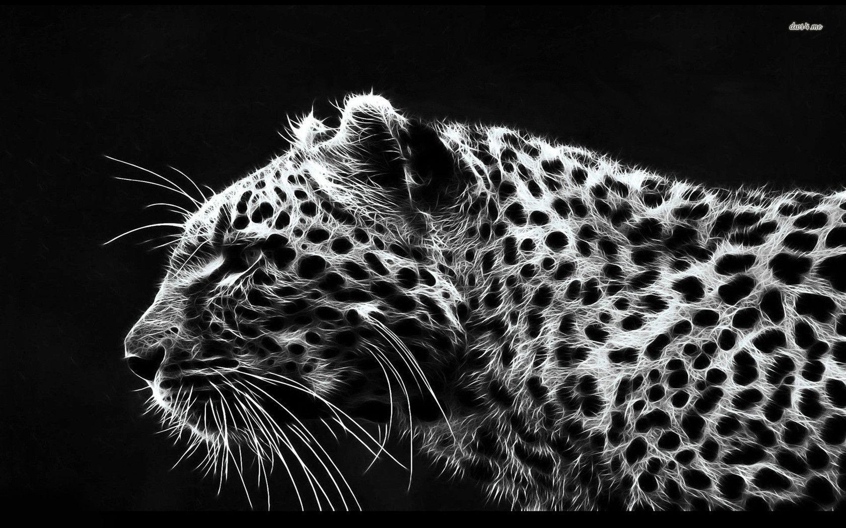 Digital Leopard Art Wallpapers: White Leopard Wallpapers