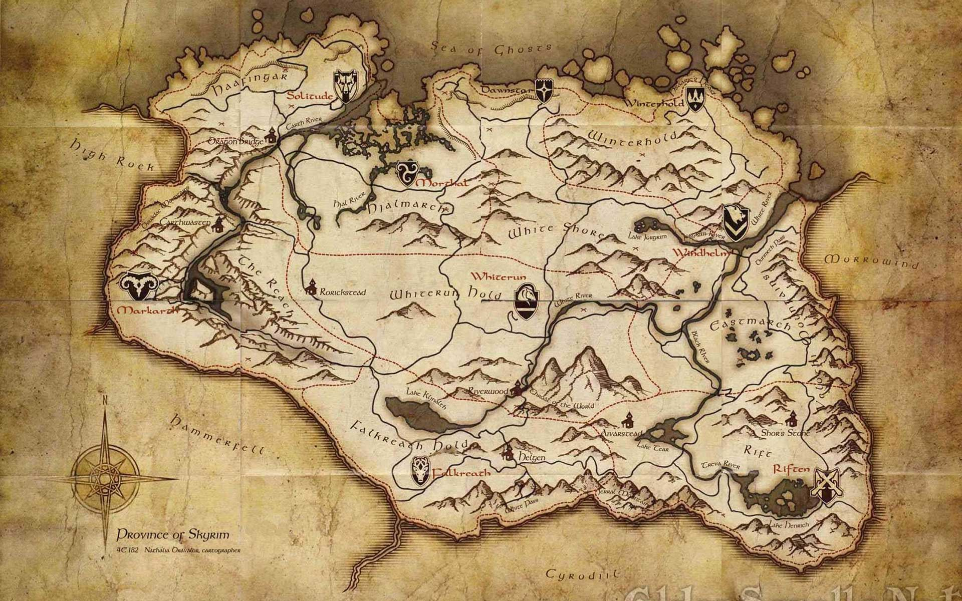 Map Wall Paper skyrim map wallpapers - wallpaper cave
