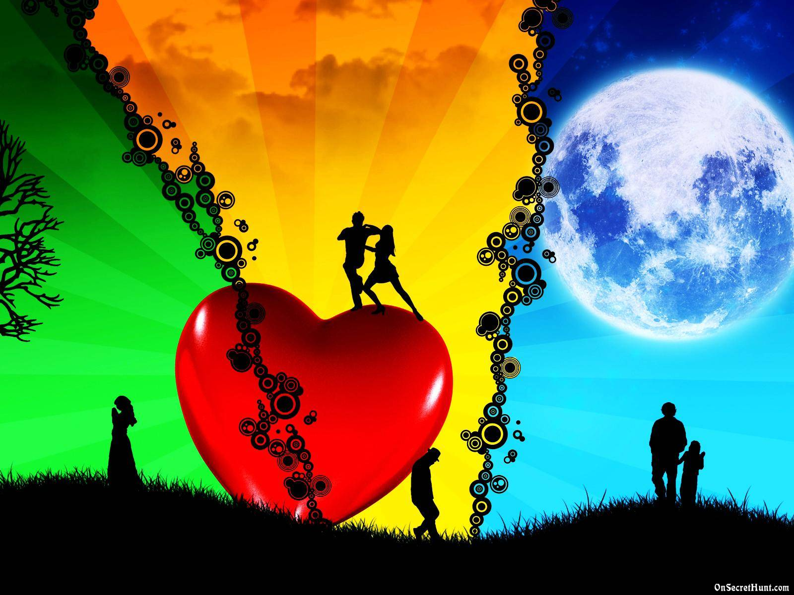 Love Heart couple Hd Wallpaper : Love Wallpapers 3D - Wallpaper cave