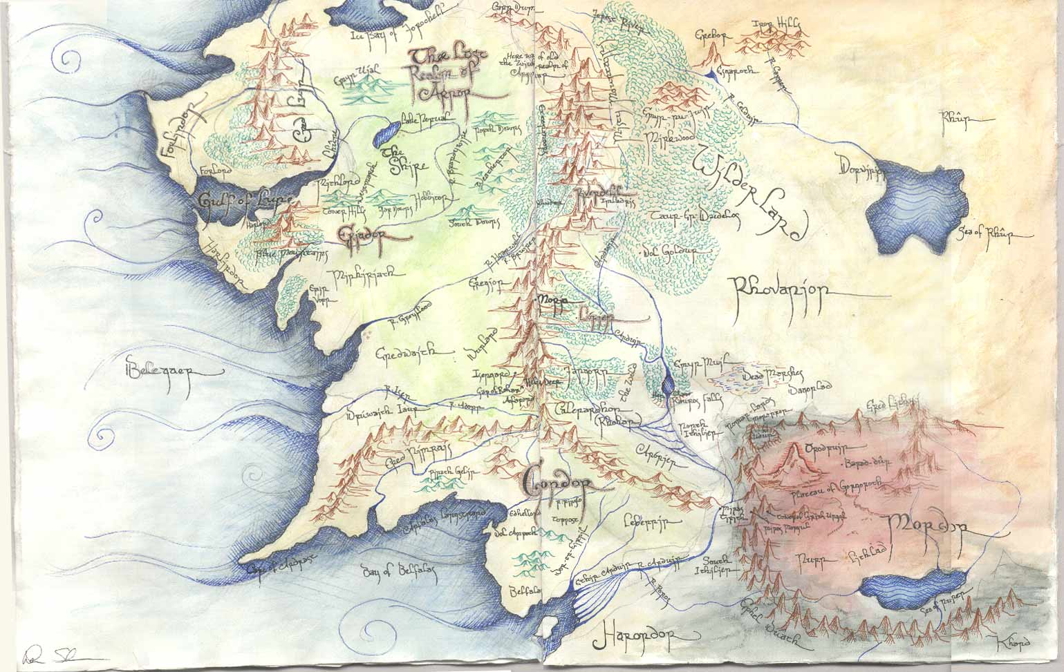 Image For > Map Of Middle Earth Wallpapers