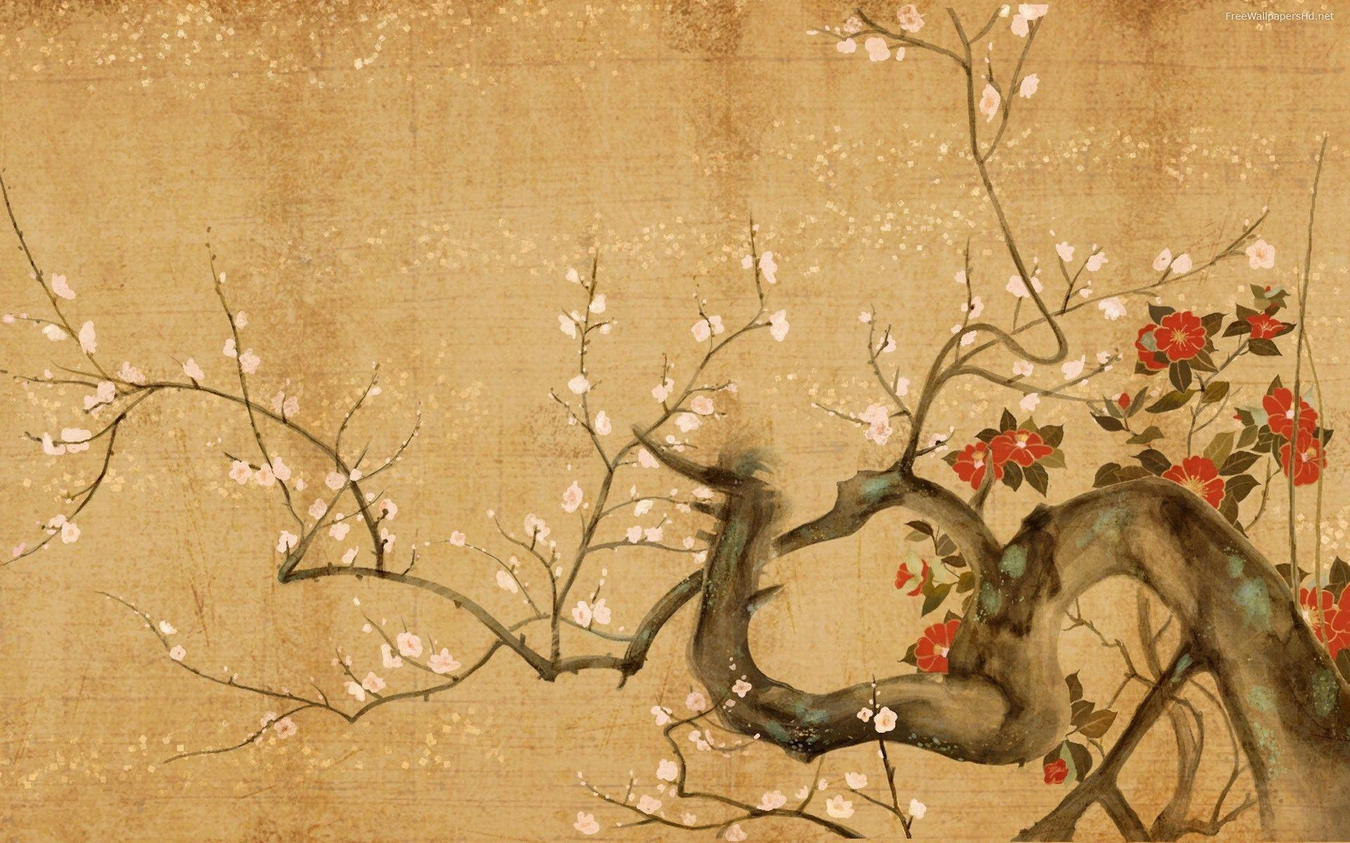 oriental themed wallpaper stained - photo #6