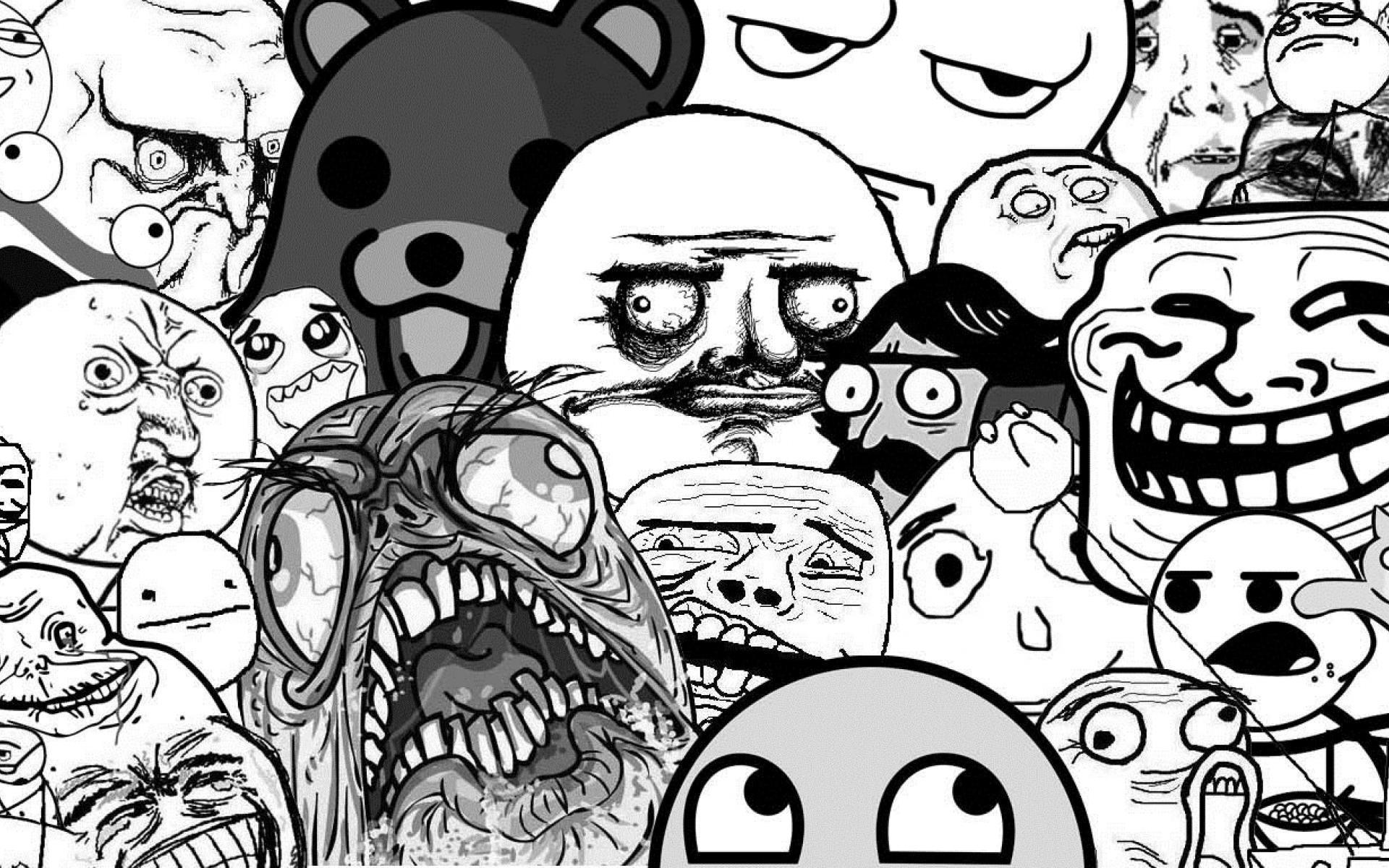 meme wallpapers memes faces face funny hd troll derp collage cave internet comics
