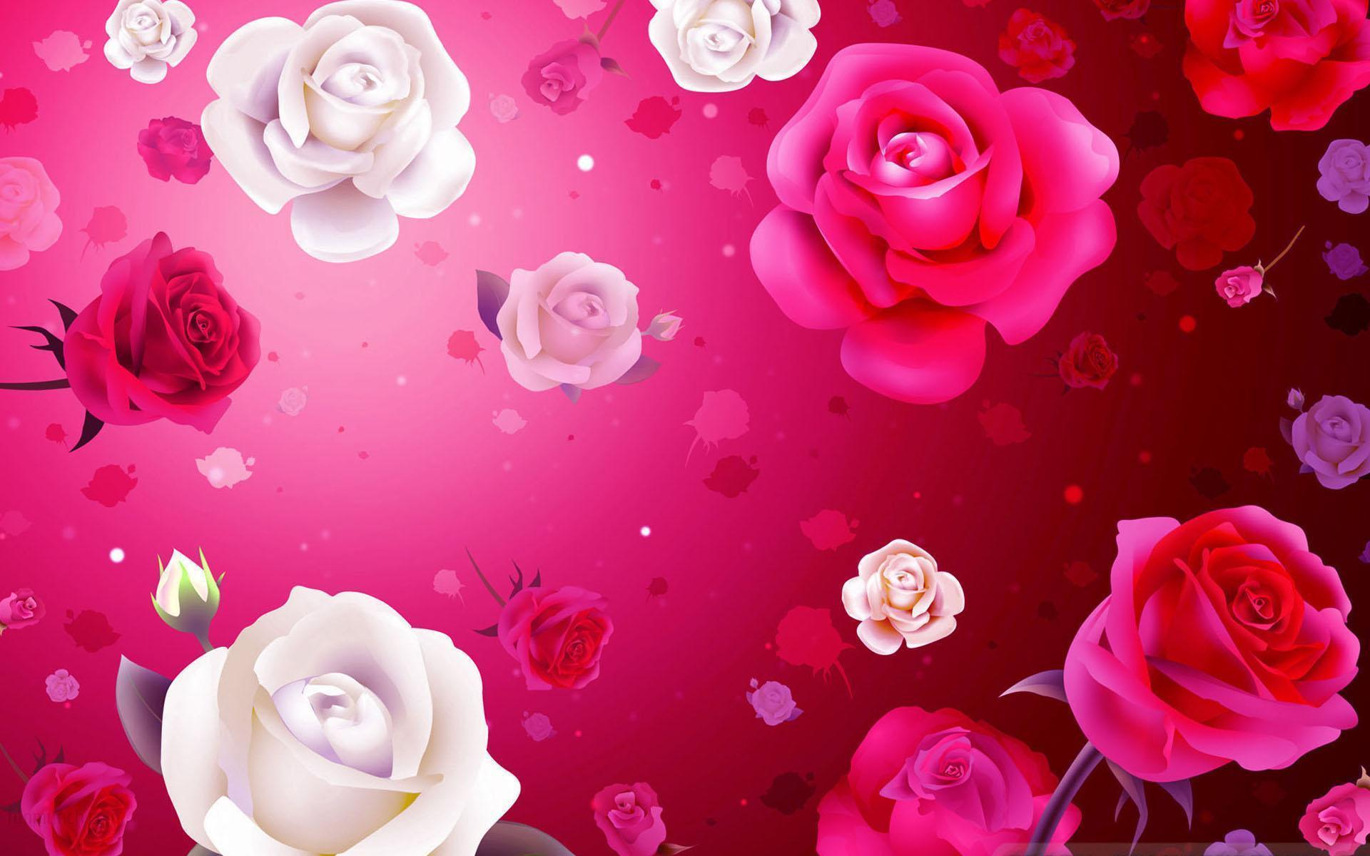 Free valentine backgrounds desktop wallpaper cave - Valentine s day flower wallpaper ...