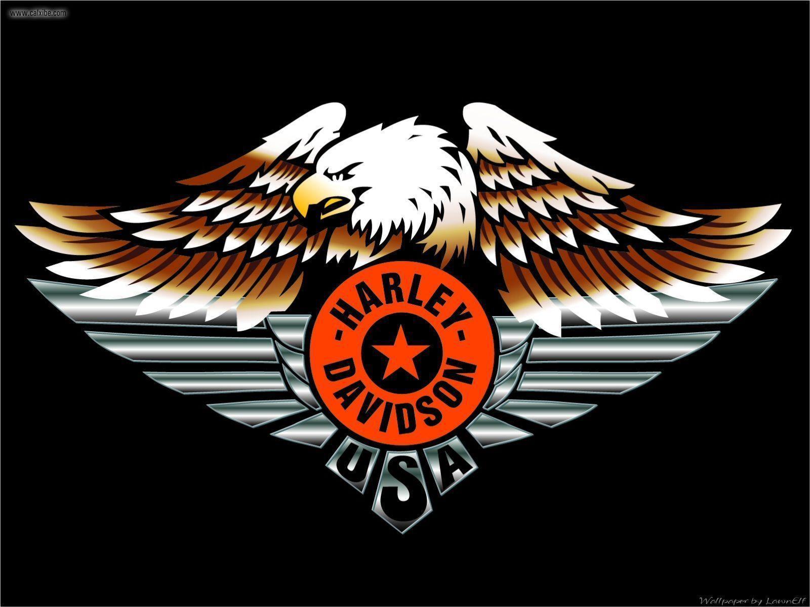 newest harley davidson logo wallpapers - photo #32