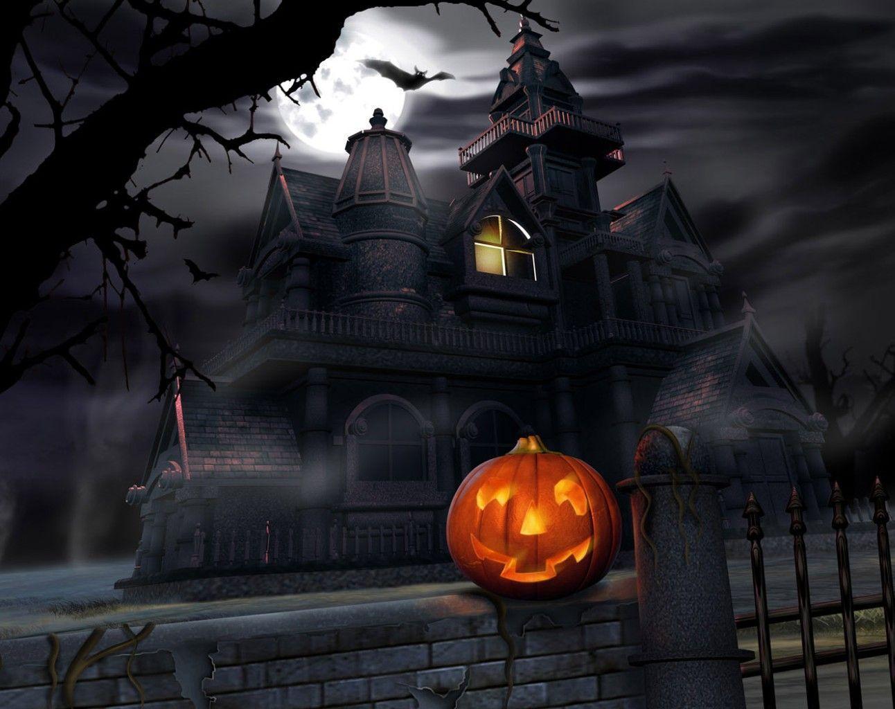 Halloween Scary House, Halloween Wallpaper, hd phone wallpapers ...