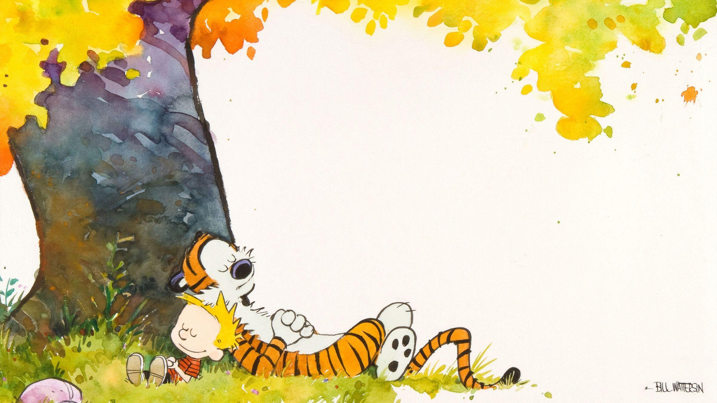 Wallpaper Fall In Love cartoon : calvin And Hobbes Wallpapers - Wallpaper cave