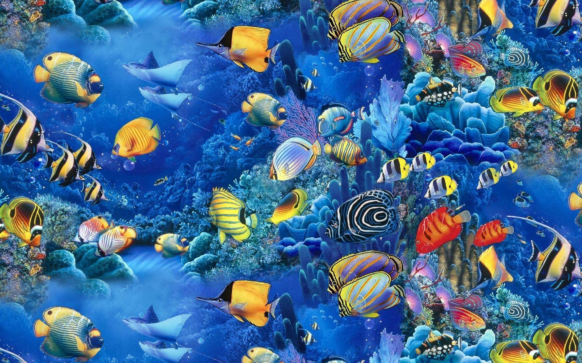 Fish backgrounds wallpaper cave for Cool fishing wallpapers