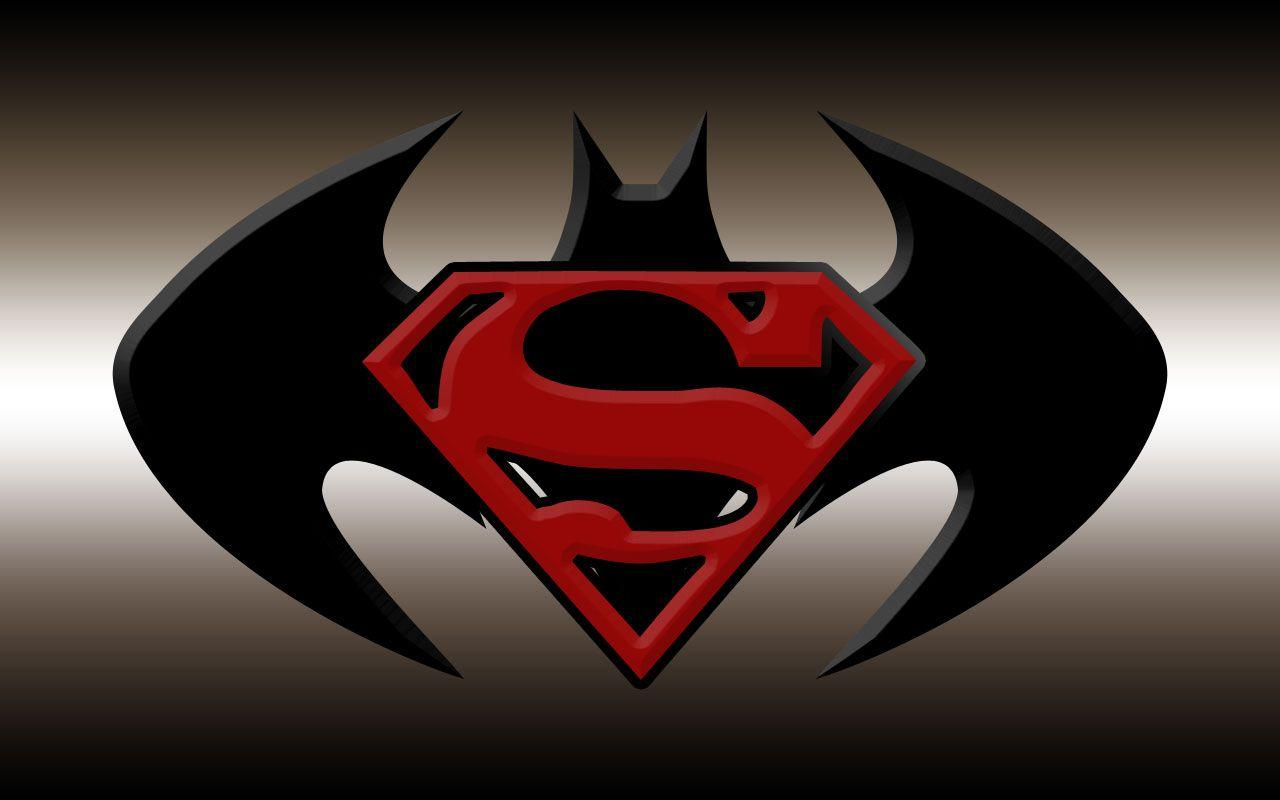Superman and batman logo wallpapers wallpaper cave Batman symbol