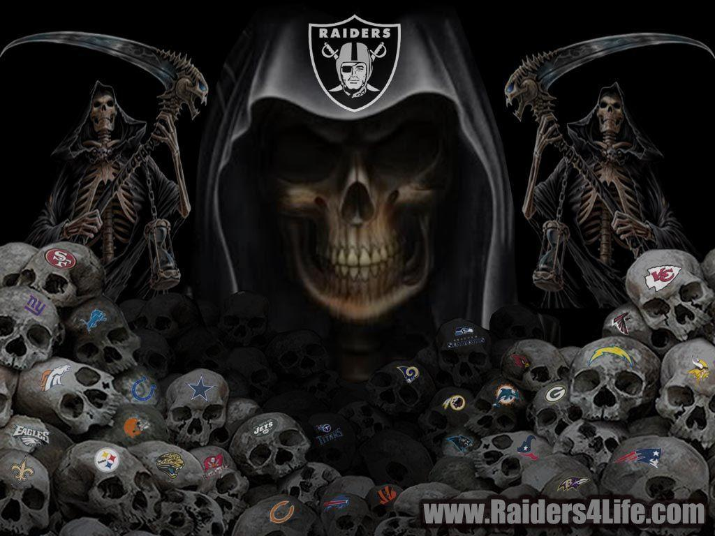 Images For > Oakland Raiders Skull Wallpaper