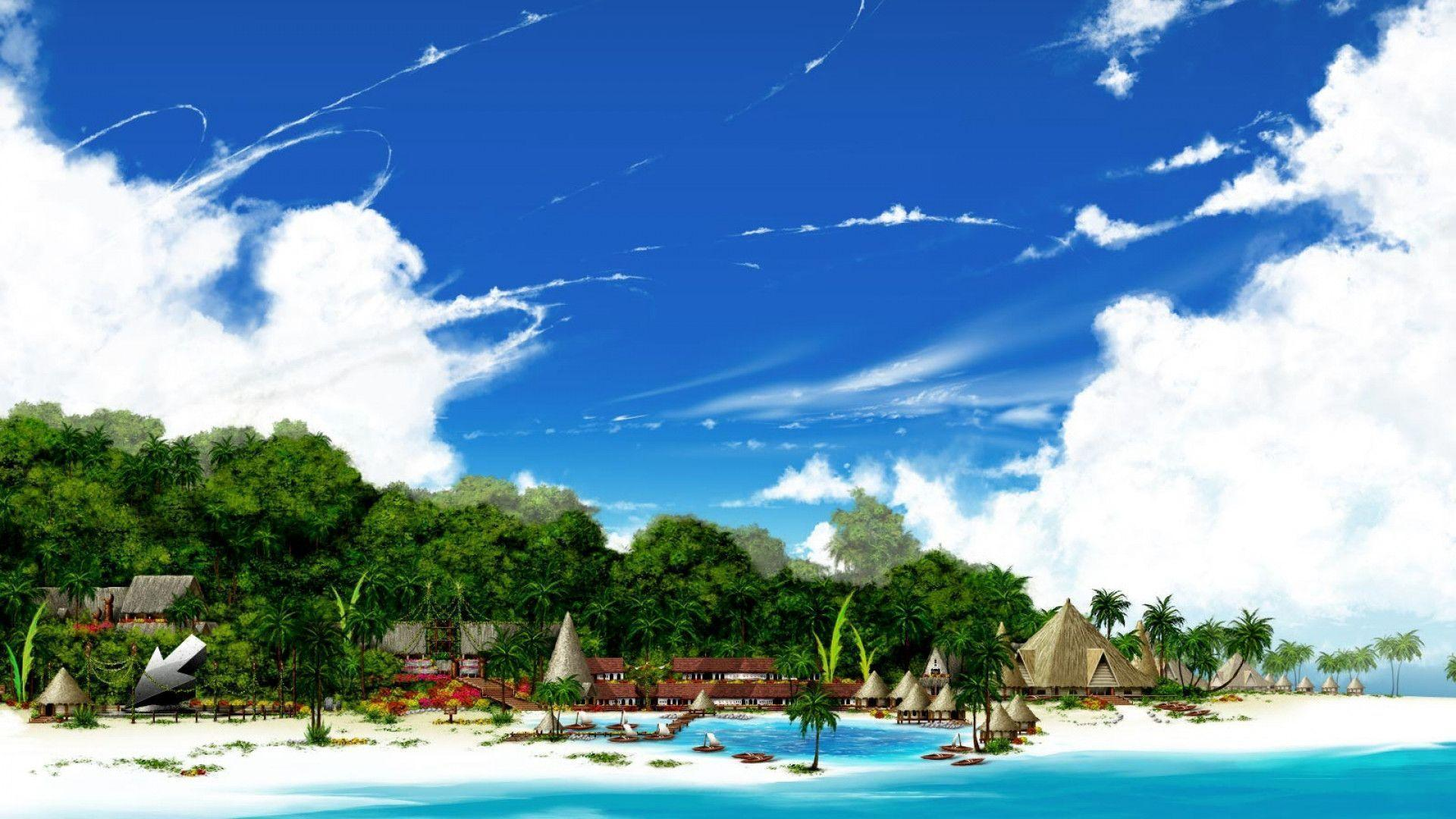 Hd Tropical Island Beach Paradise Wallpapers And Backgrounds: Paradise Beach Wallpapers
