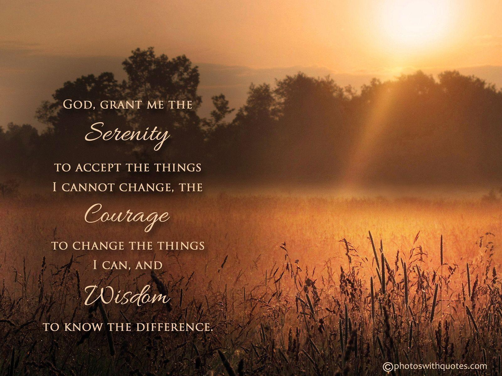 Serenity Prayer Wallpapers