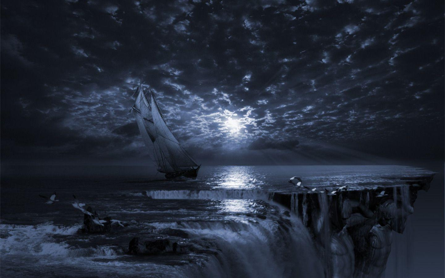 Sail Ship In The End Of World