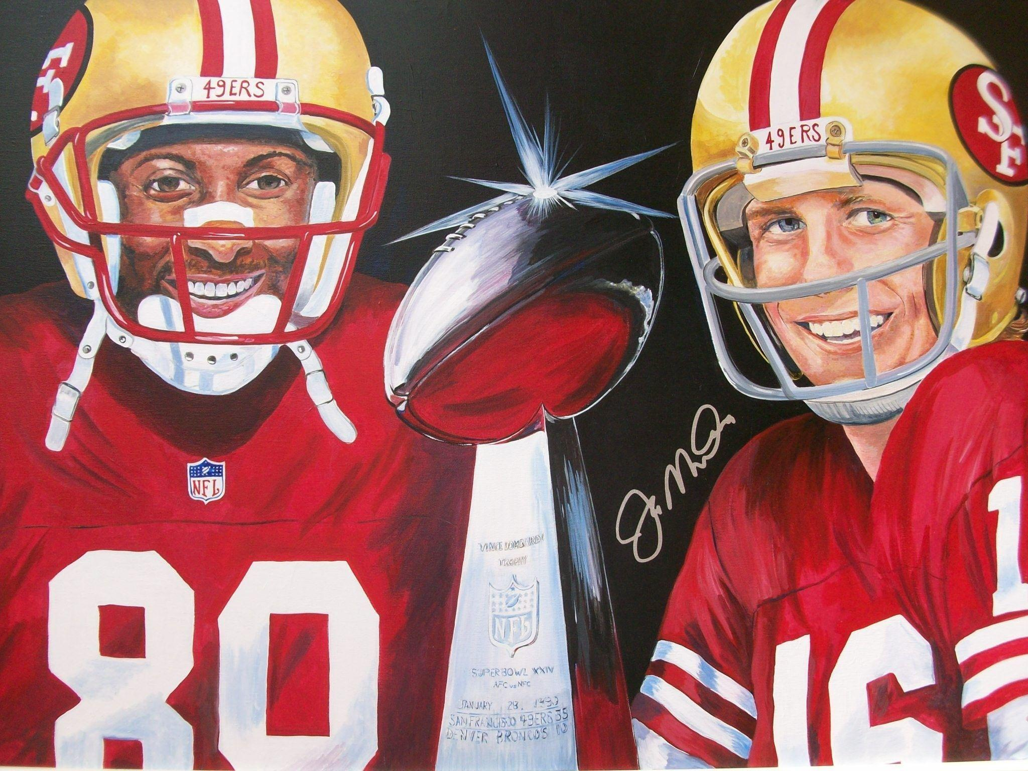Pix For > Joe Montana And Jerry Rice