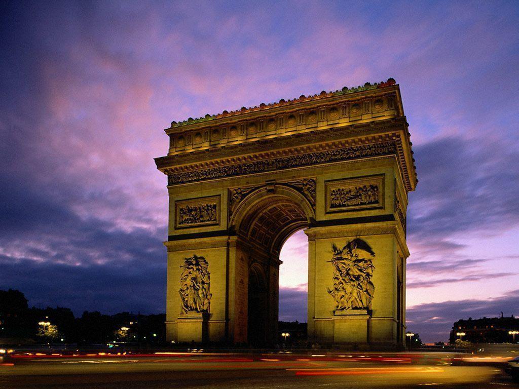 Arc De Triomphe Paris Desktop Wallpaper
