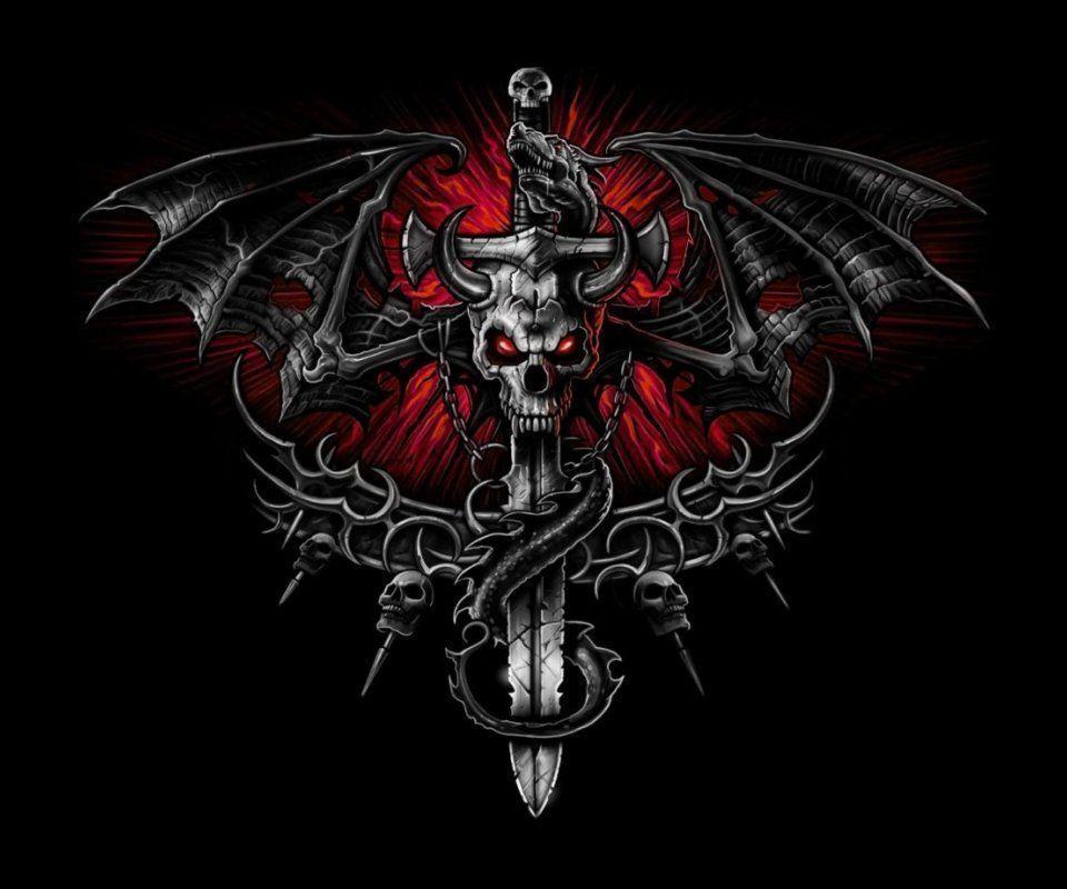 the expendables logo skull wallpaper