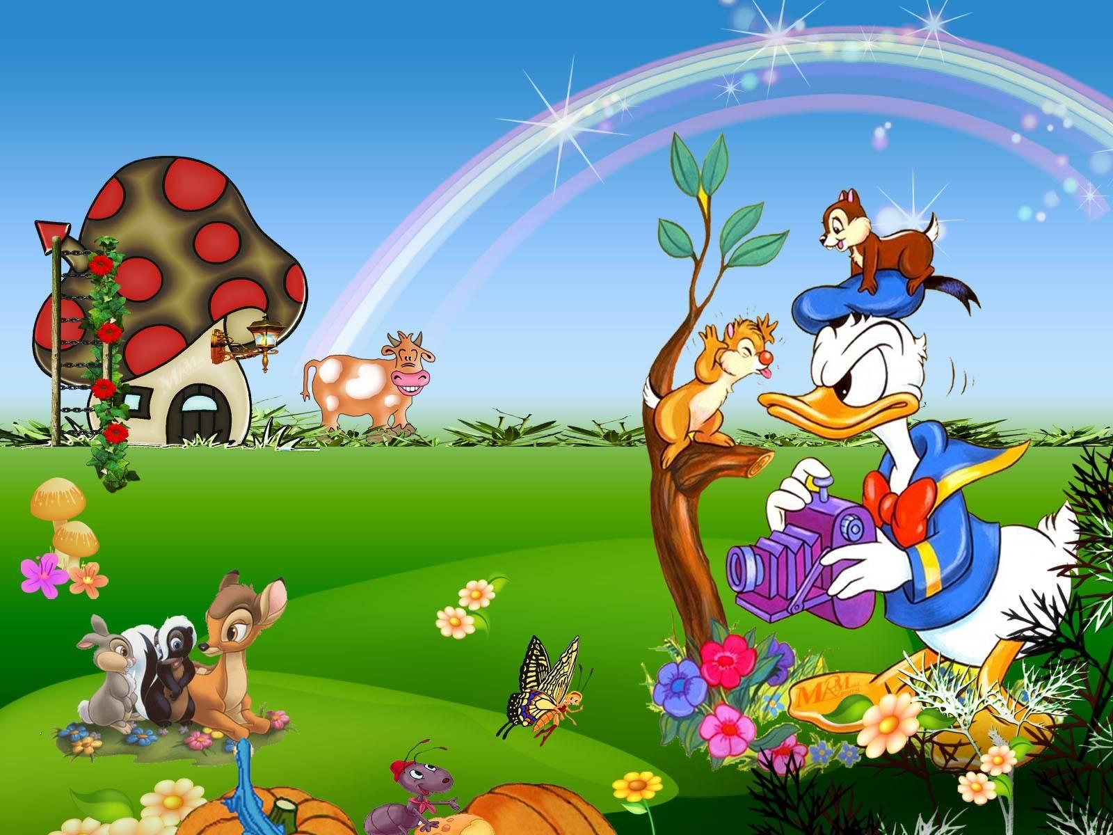 600 Wallpaper Animasi Taman  Paling Keren