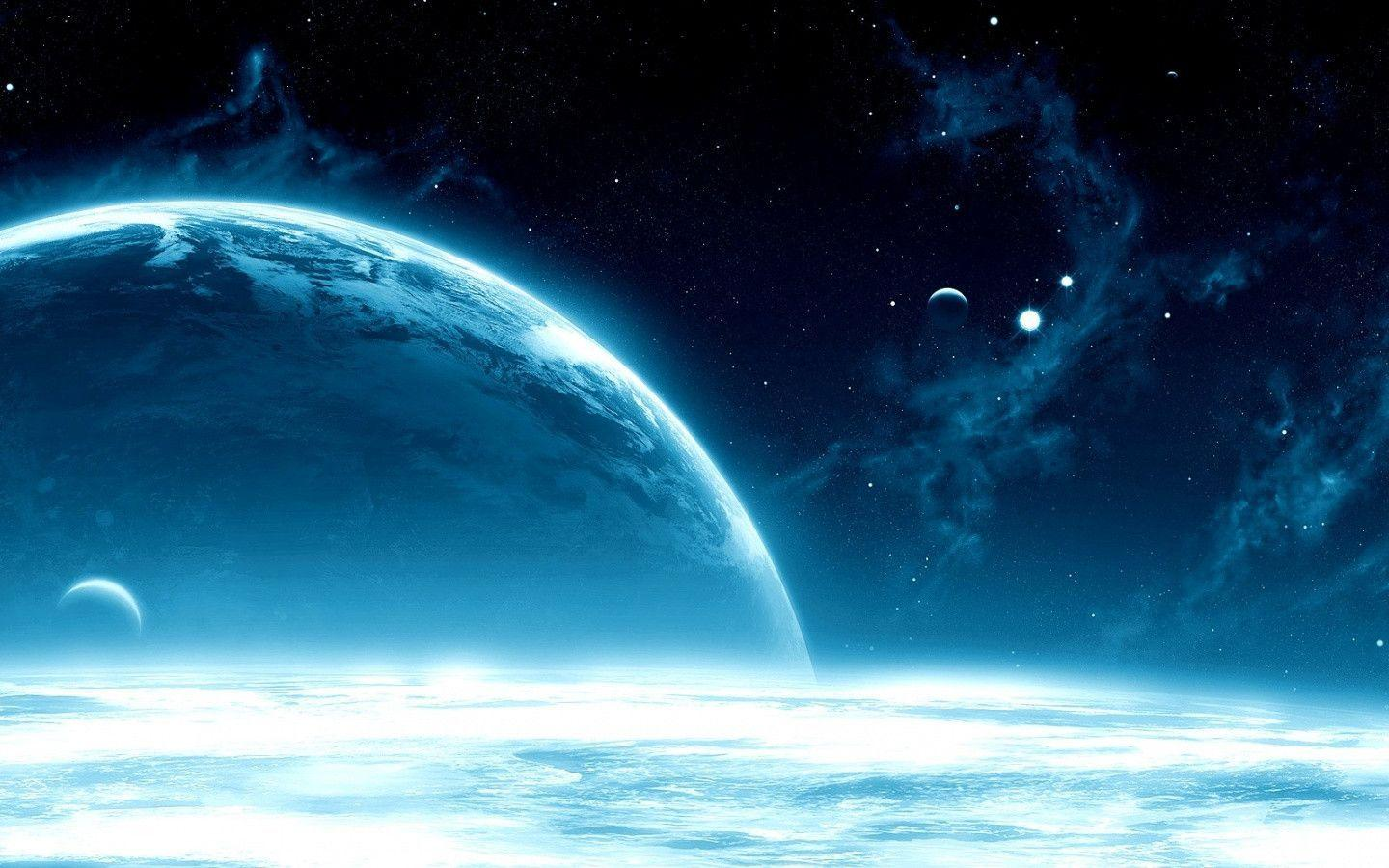 Blue Space Free Wallpapers