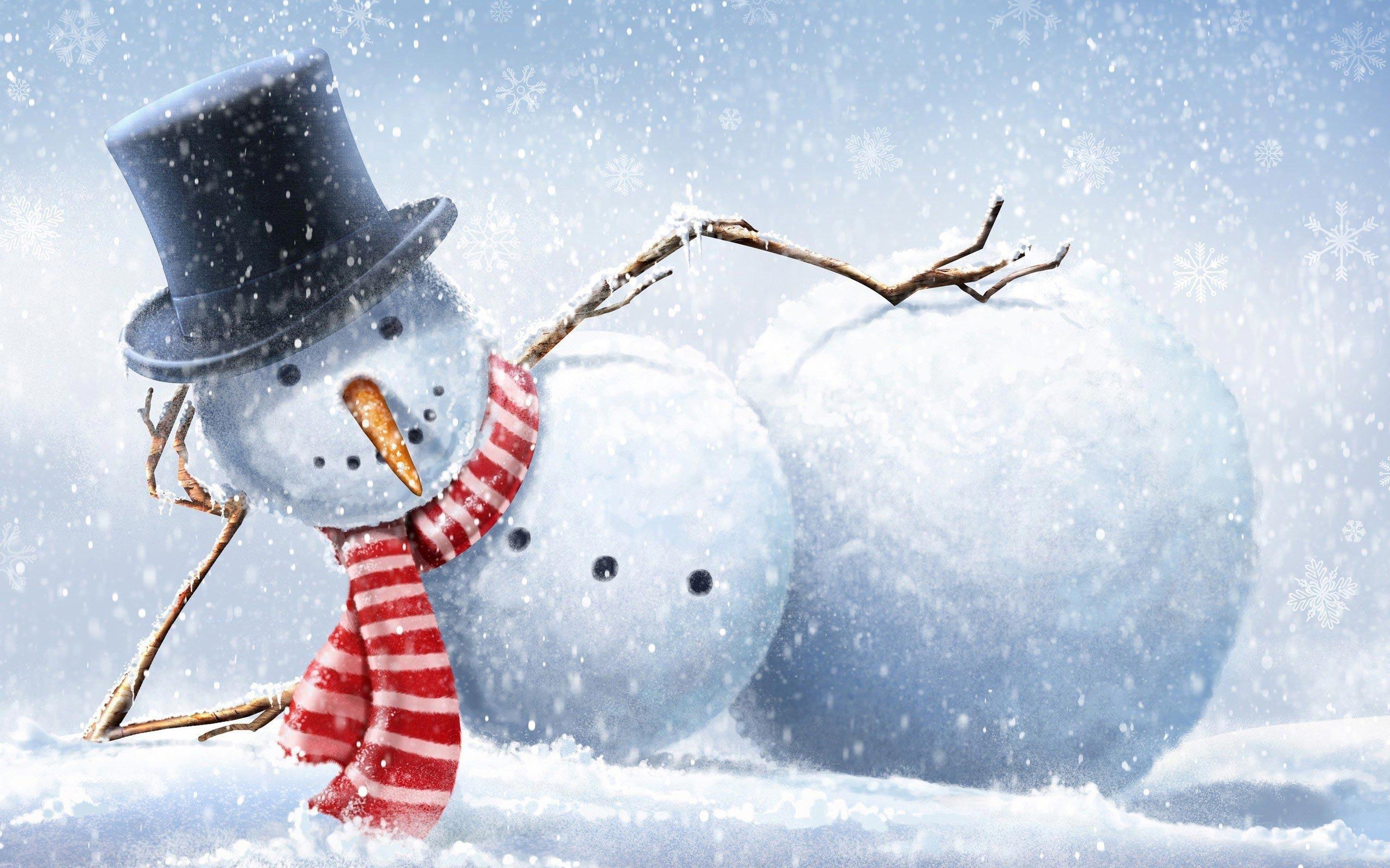 Snowman Backgrounds - WallpaperSafari