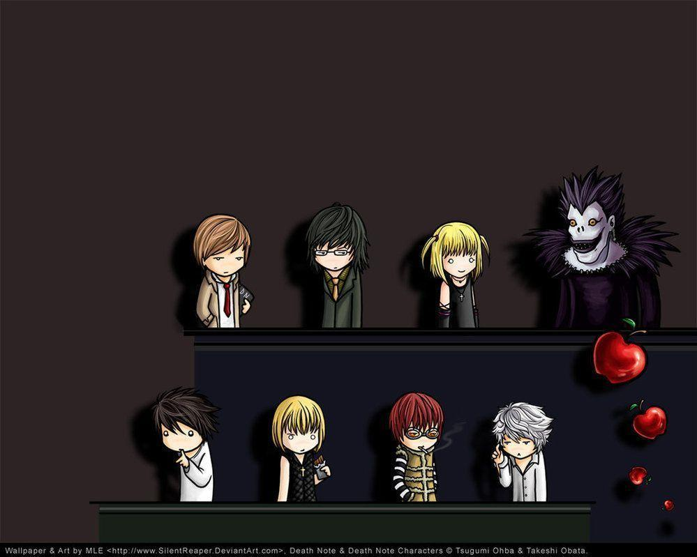 Death Note Chibi Wallpaper by SilentReaper on DeviantArt