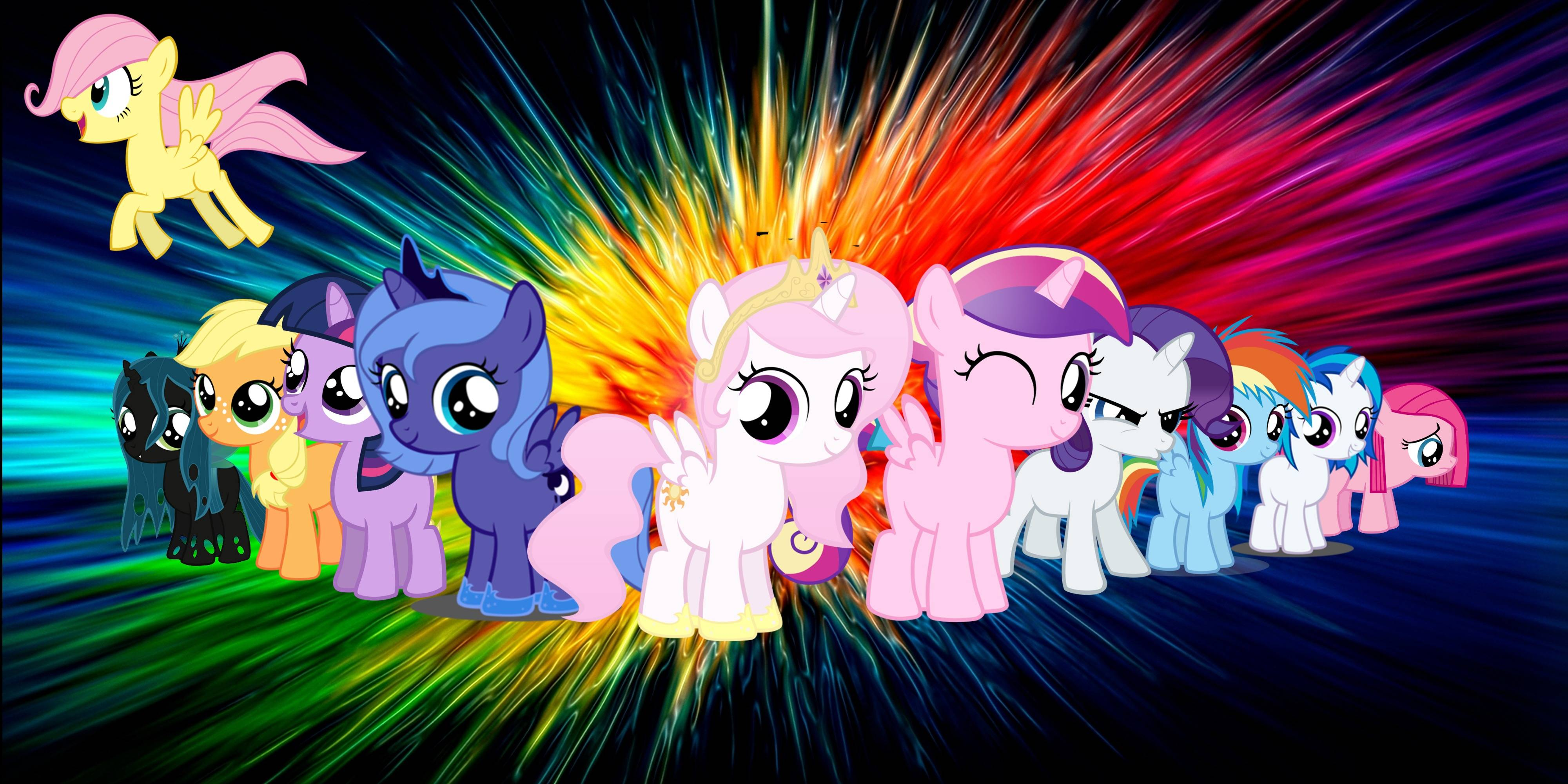 MLP:fim Mane6 Wallpaper Practice by DesignJH on DeviantArt