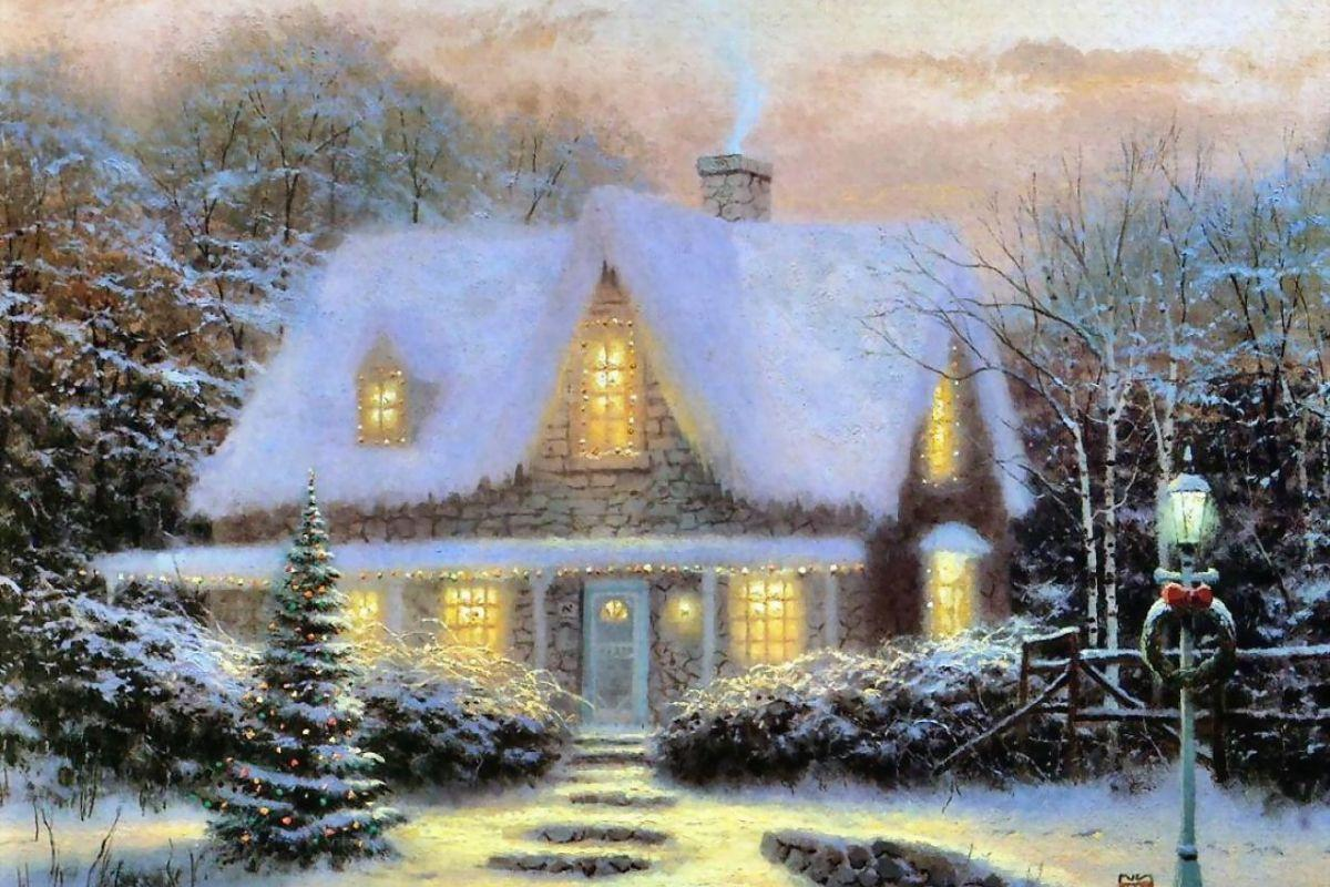 Thomas Kinkade Christmas Tree Wallpapers