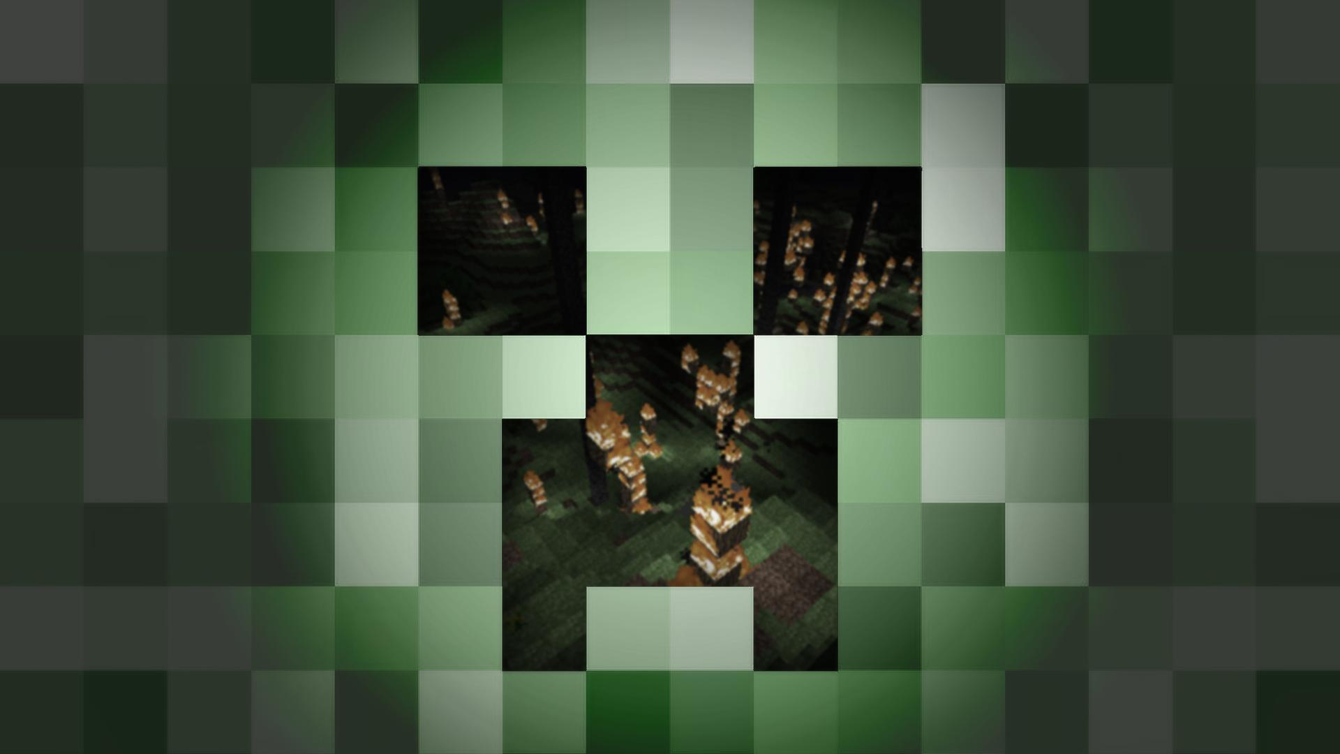 Pix For > Creeper Face Minecraft Wallpaper