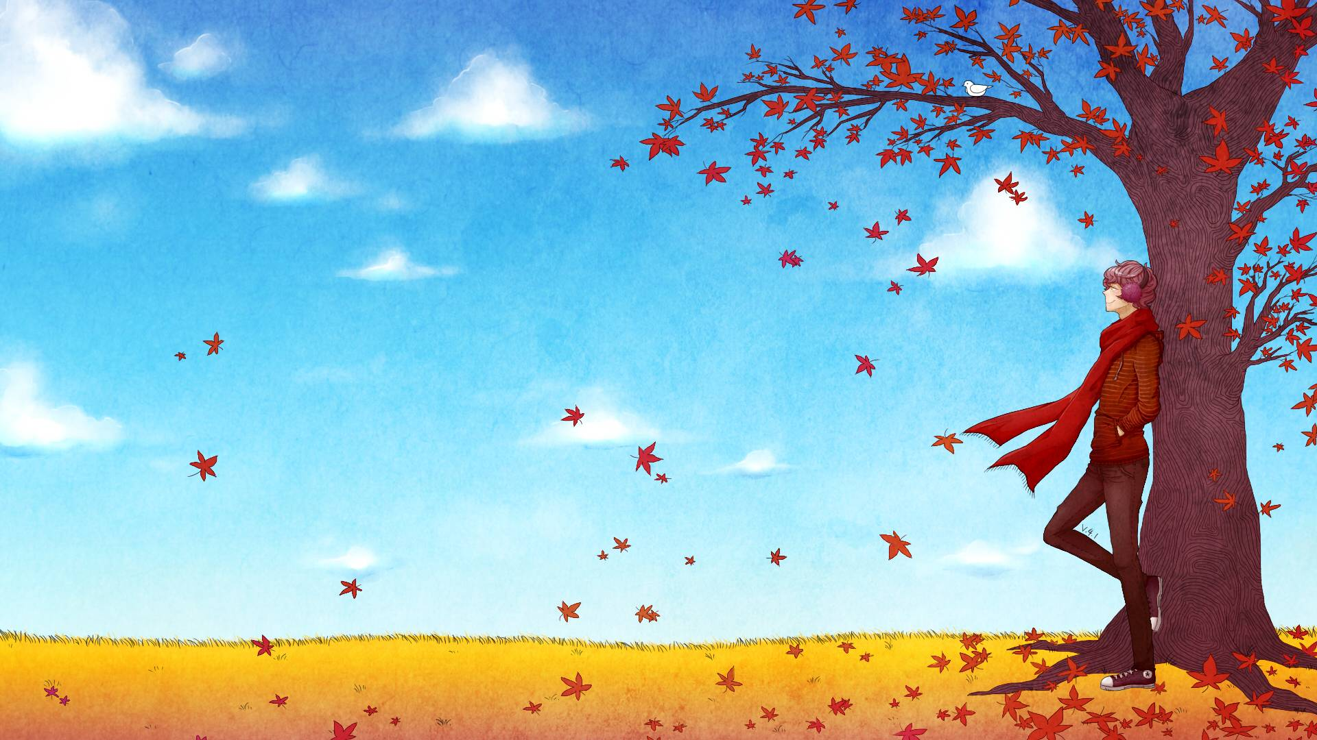 Backgrounds fall wallpaper cave for Theme ecran