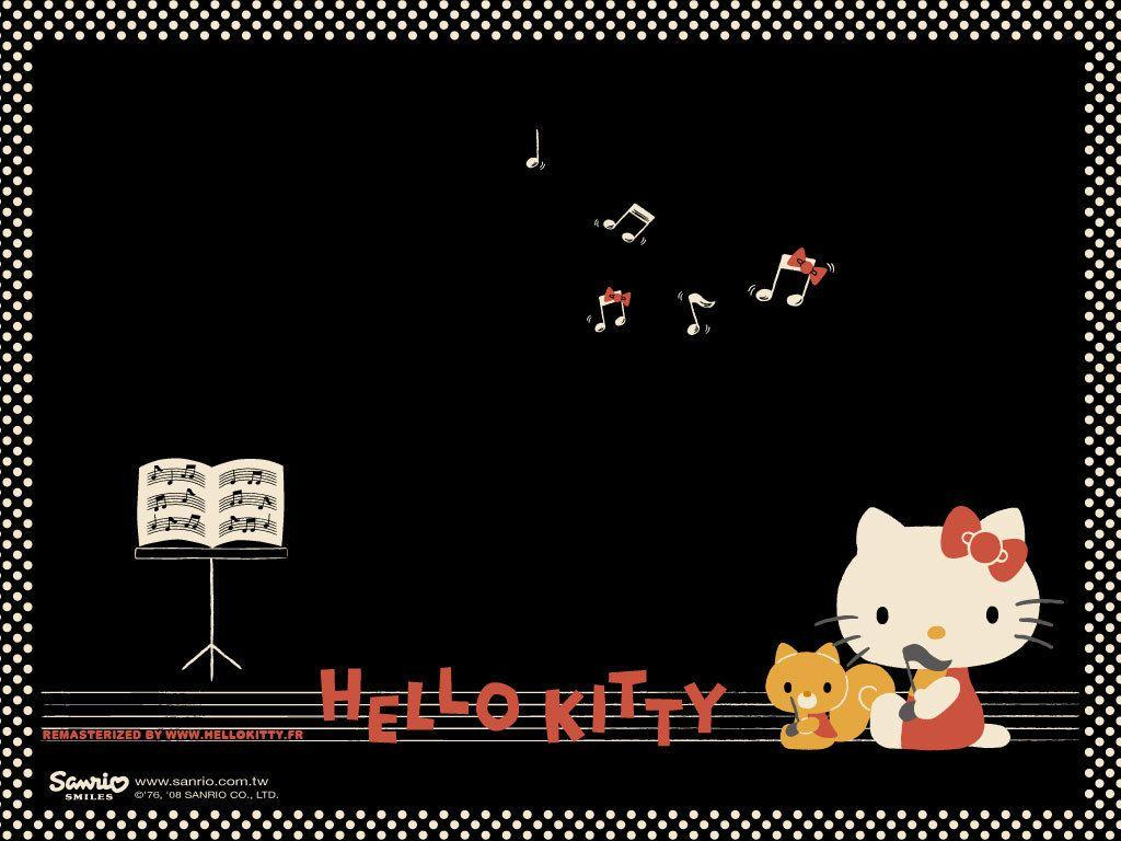 Hello Kitty Black Wallpapers - Wallpaper Cave