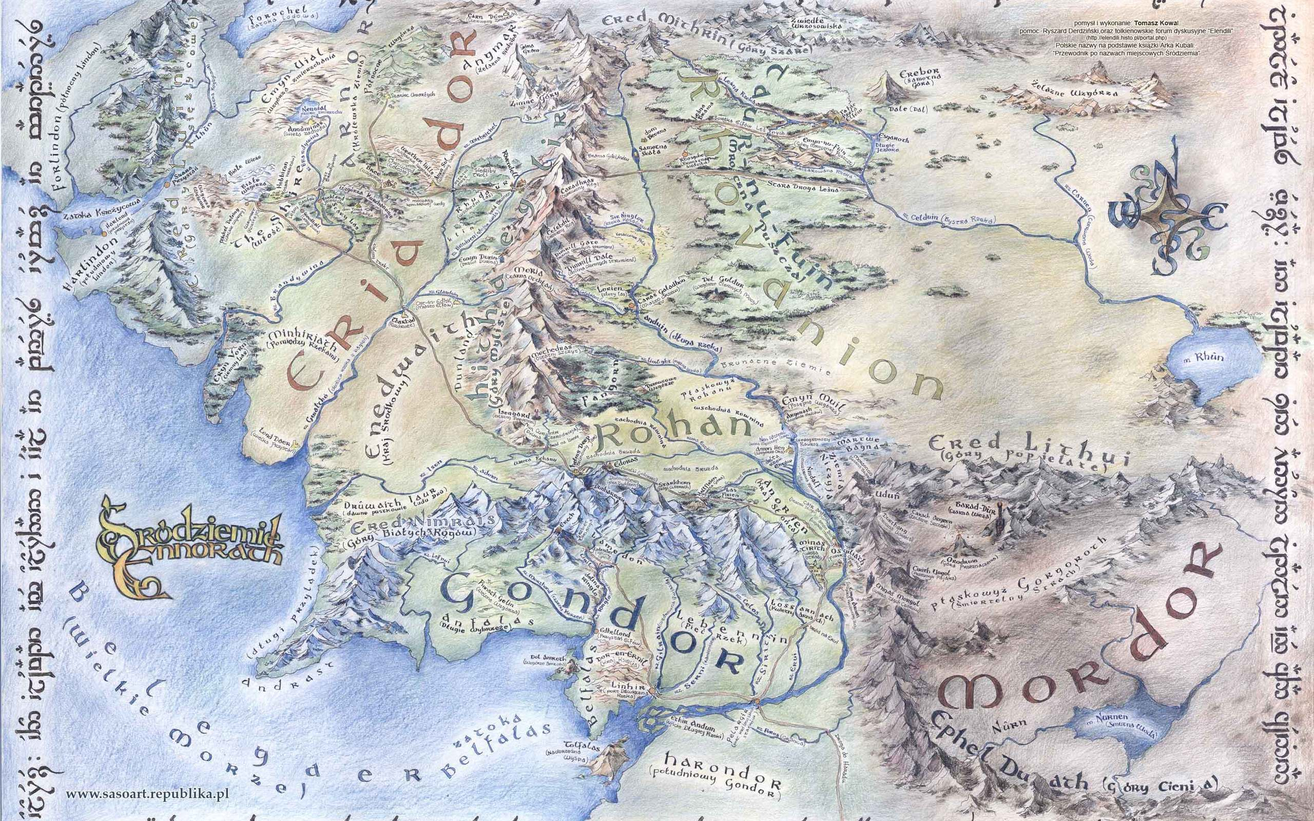 large detailed map of middle earth desktop wallpapers 1920x1080