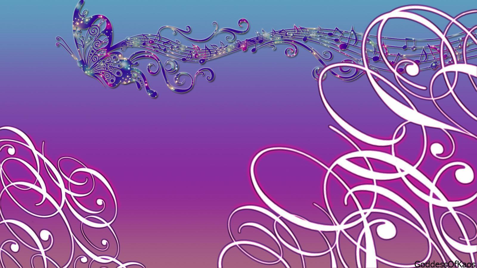 Purple Music Notes Wallpaper Backgrounds 1 HD Wallpapers