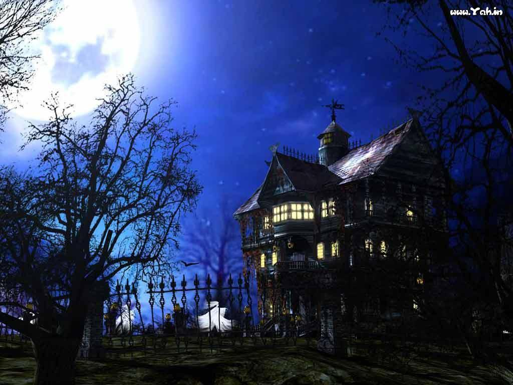 Haunted house wallpapers wallpaper cave for Anvica homes 3d wallpapers