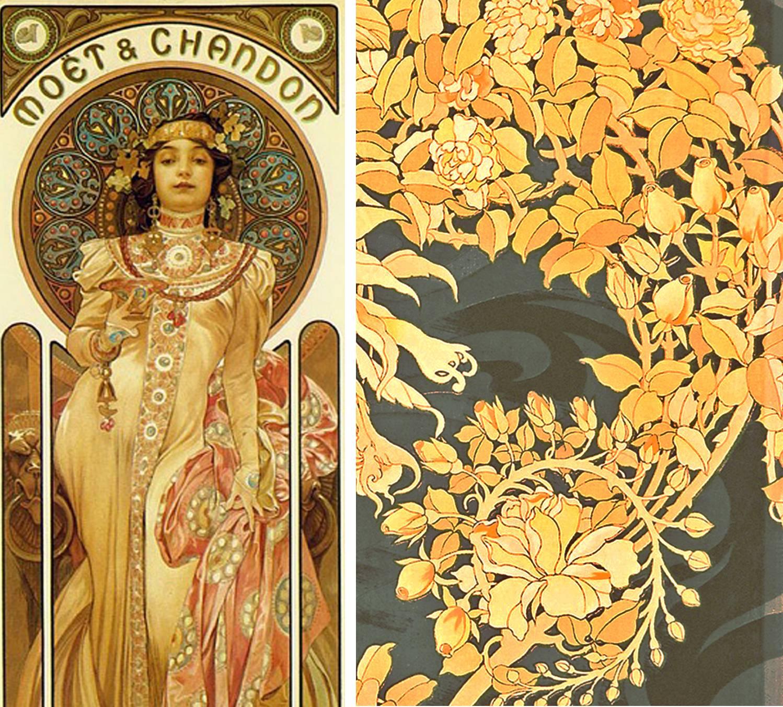 Mucha wallpapers wallpaper cave - Art deco et art nouveau ...