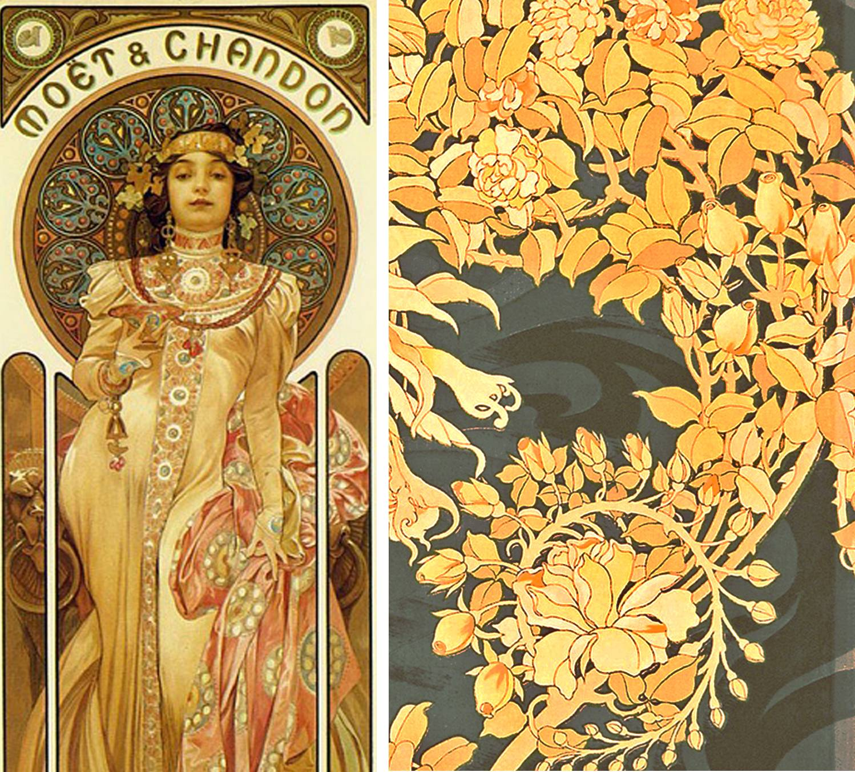 Mucha wallpapers wallpaper cave - Art deco art nouveau ...