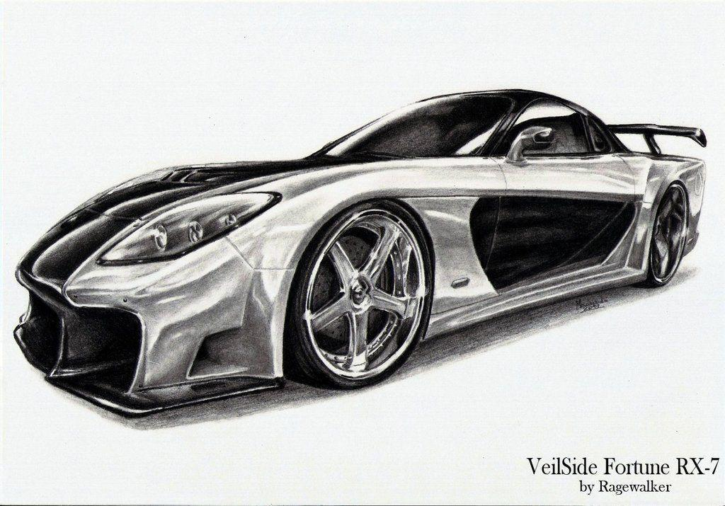 This is an image of Transformative Mazda Rx7 Drawing