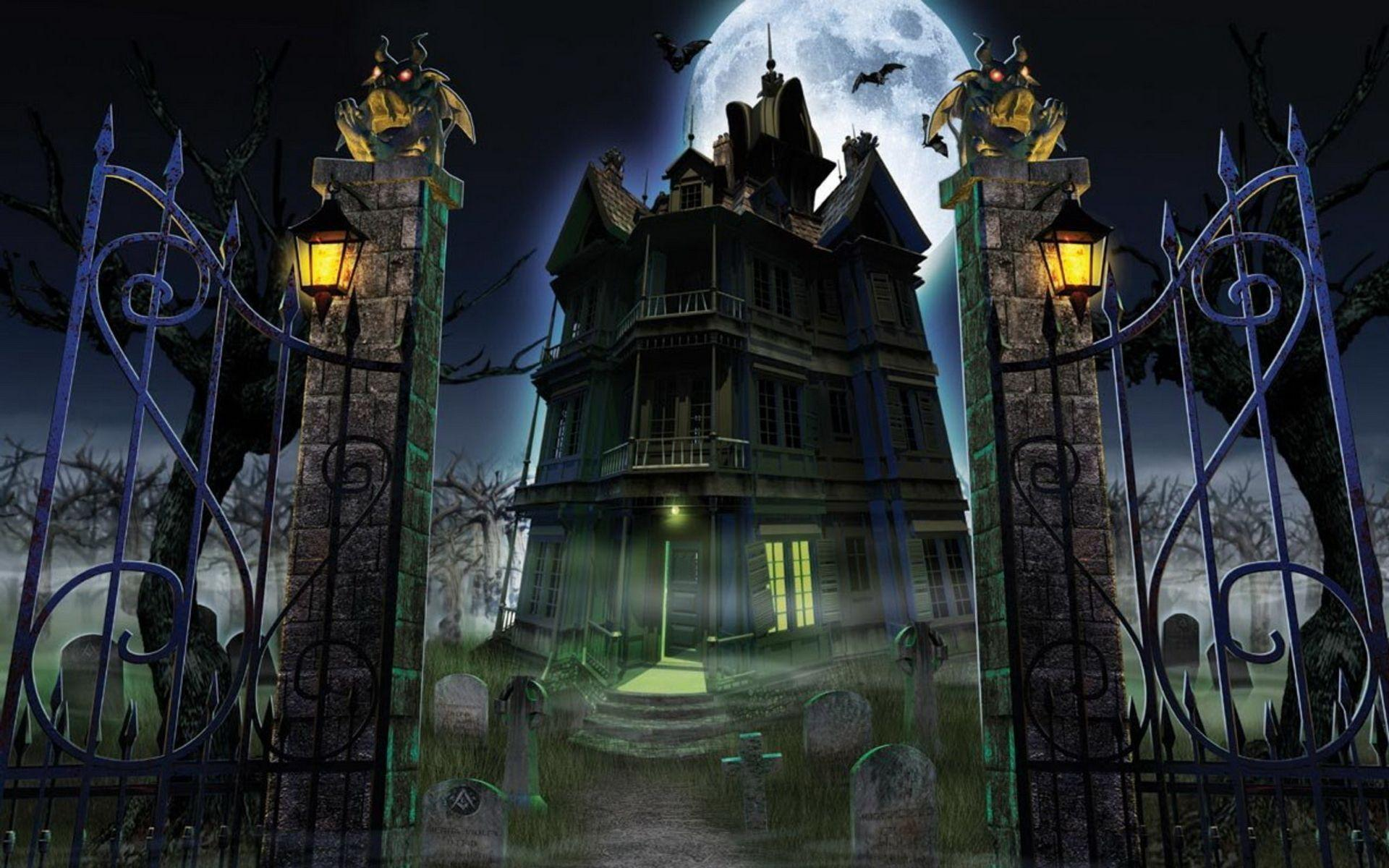 Haunted House Backgrounds - Wallpaper Cave