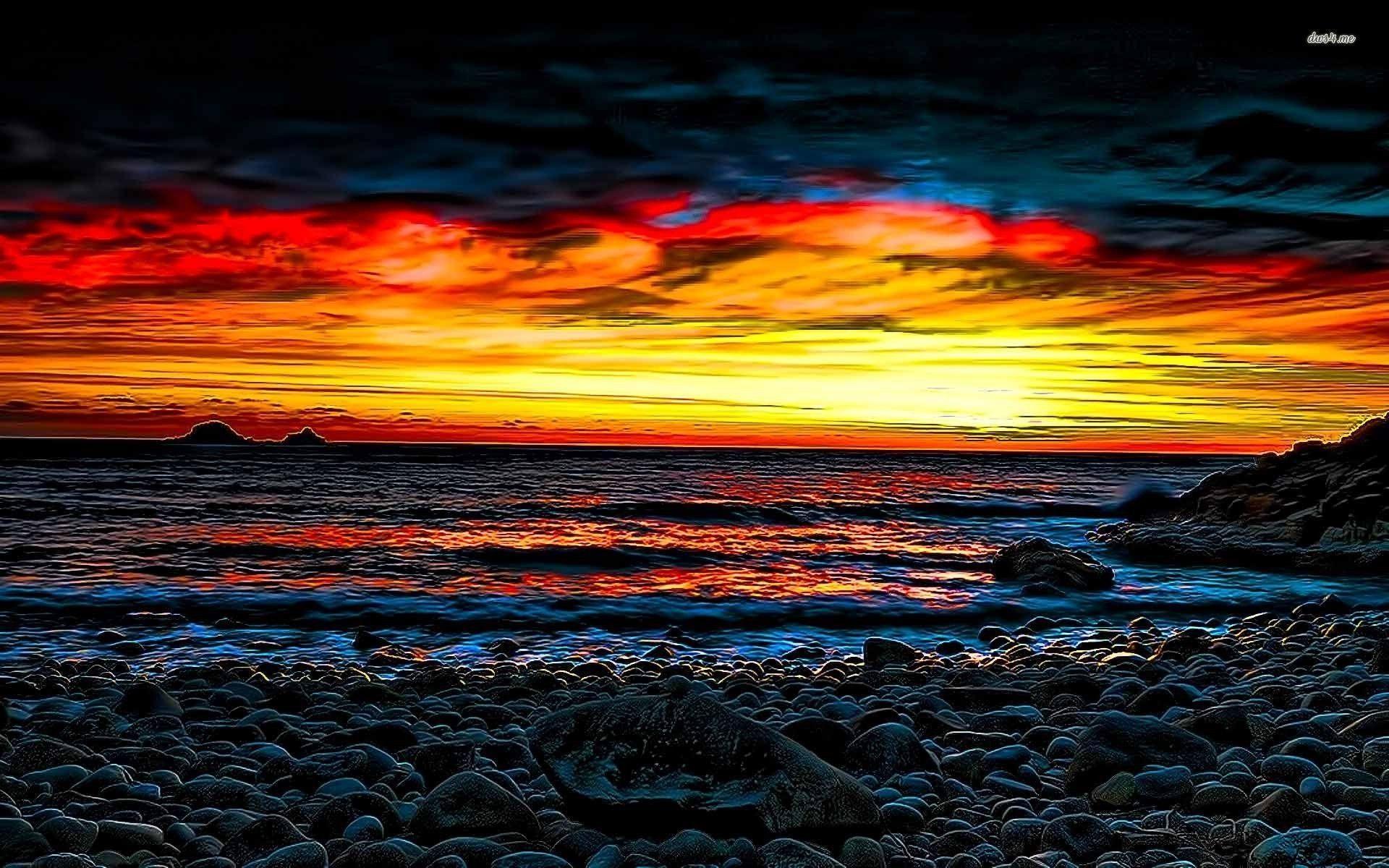 Beach Sunrise Wallpaper  WallpaperSafari