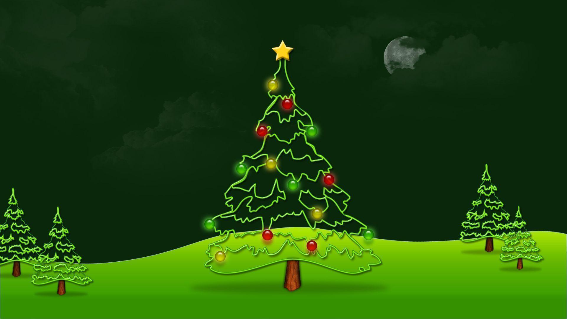 Green Christmas Tree Wallpapers Hd Wallpapers