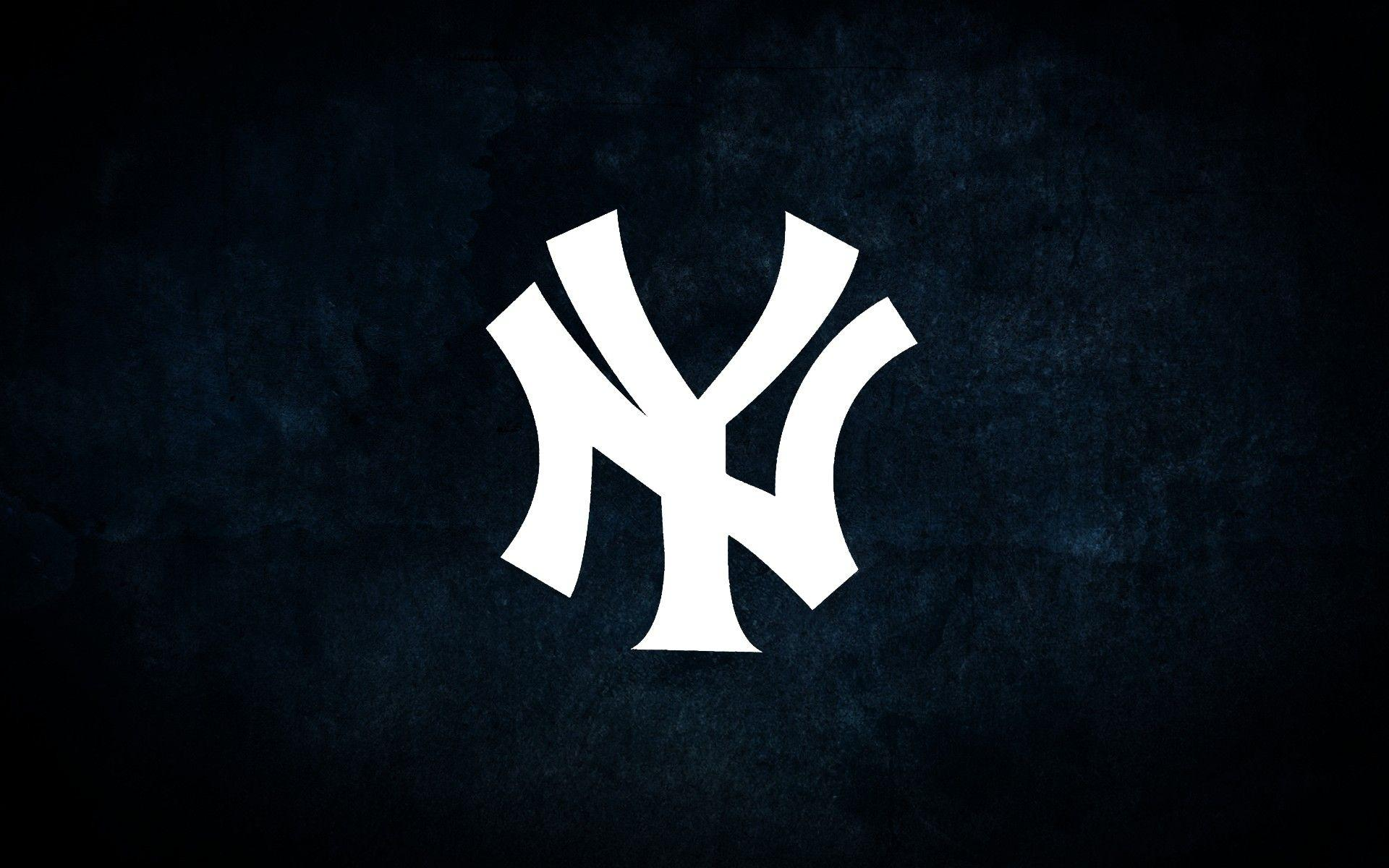 New York Yankees Logo On Blue Stained Backgrounds