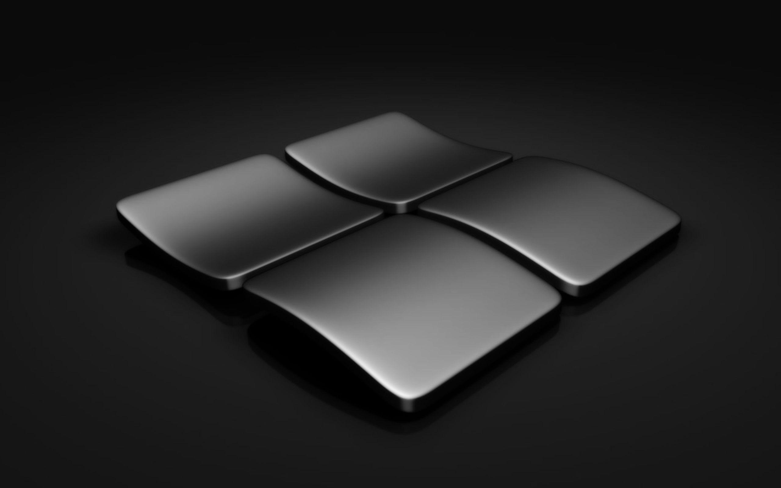 Windows logo wallpapers wallpaper cave for Black and silver 3d wallpaper