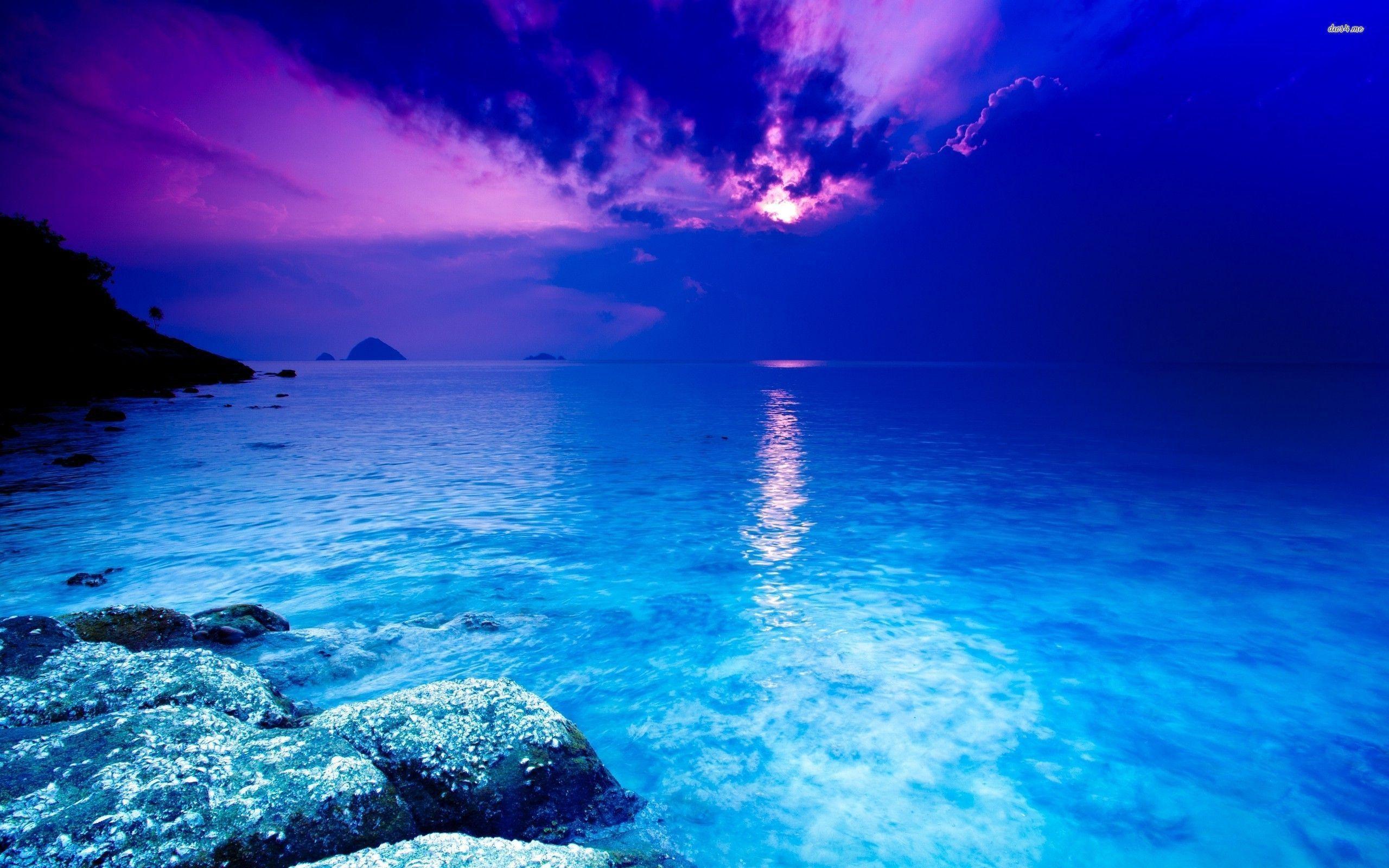 blue ocean clouds scenic - photo #24