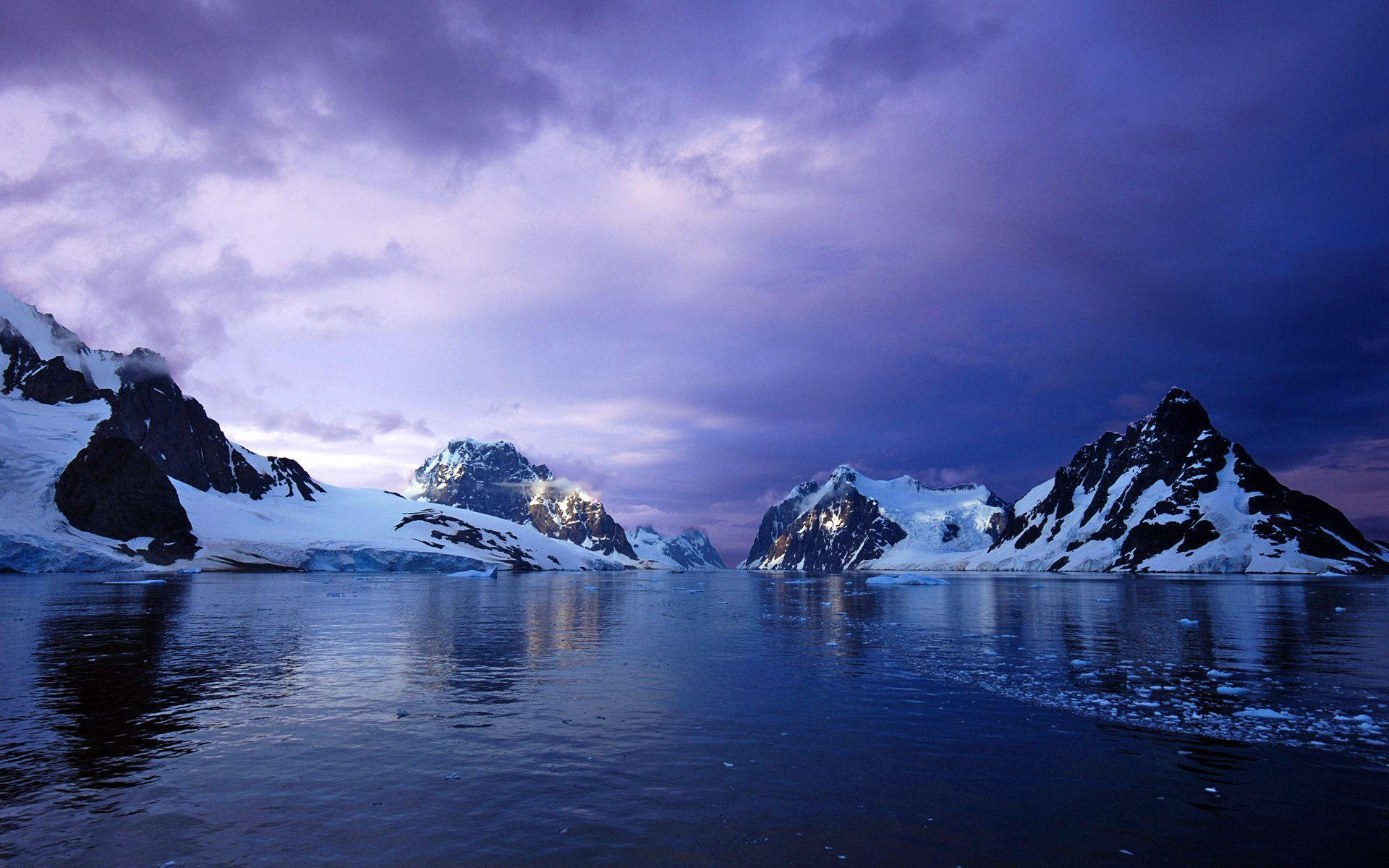 Purple Lemaire Channel Antarctica Wallpapers