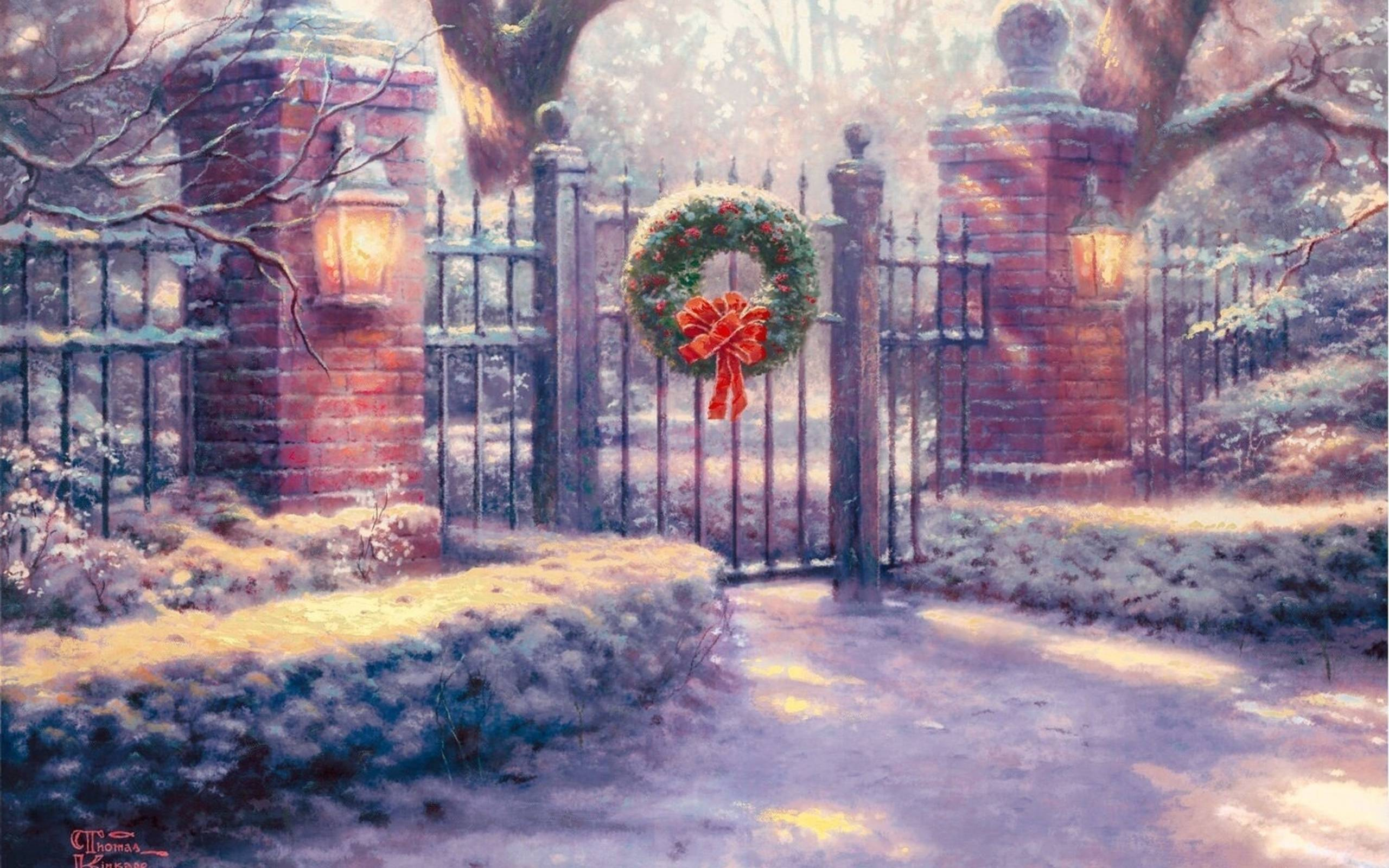 thomas kinkade christmas paintings viewing gallery