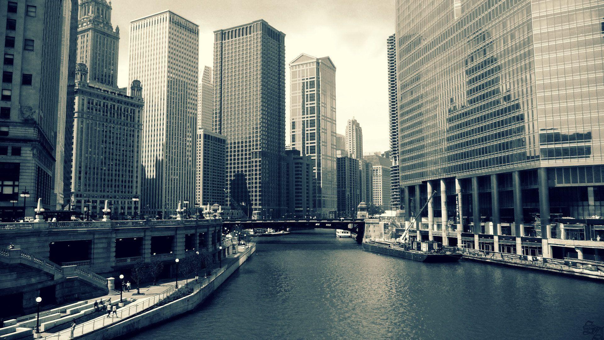 Chicago at Night Wallpaper | Theme Bin - Customization, HD ...