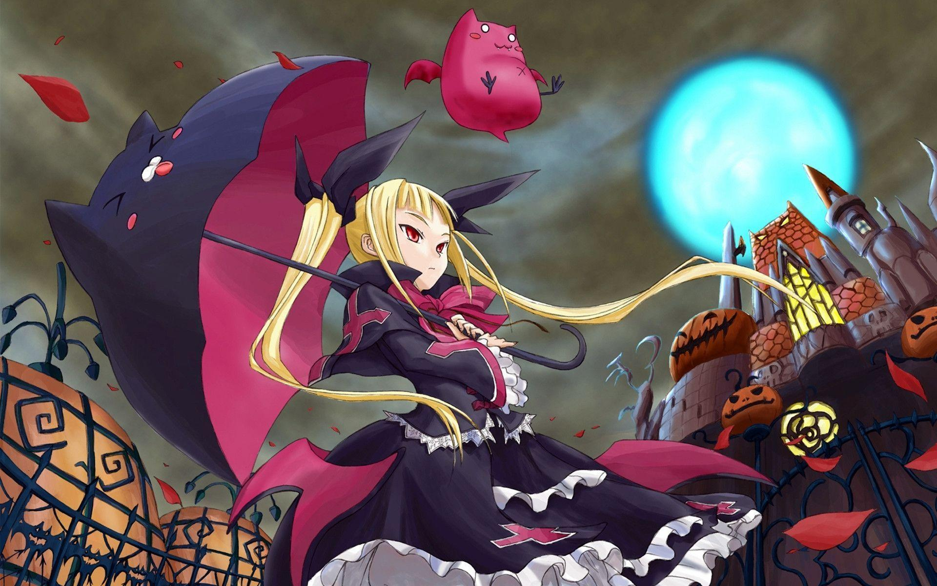 Anime Characters For Halloween : Anime halloween wallpapers wallpaper cave