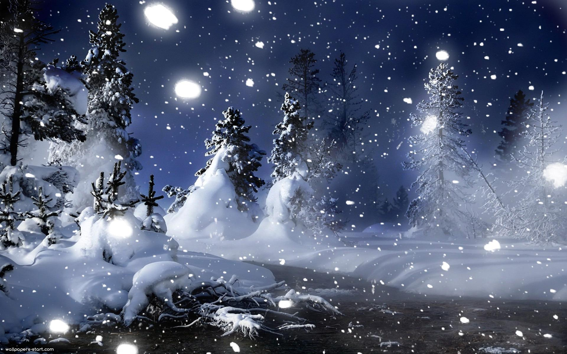 Wallpapers For > Romantic Winter Night Wallpapers