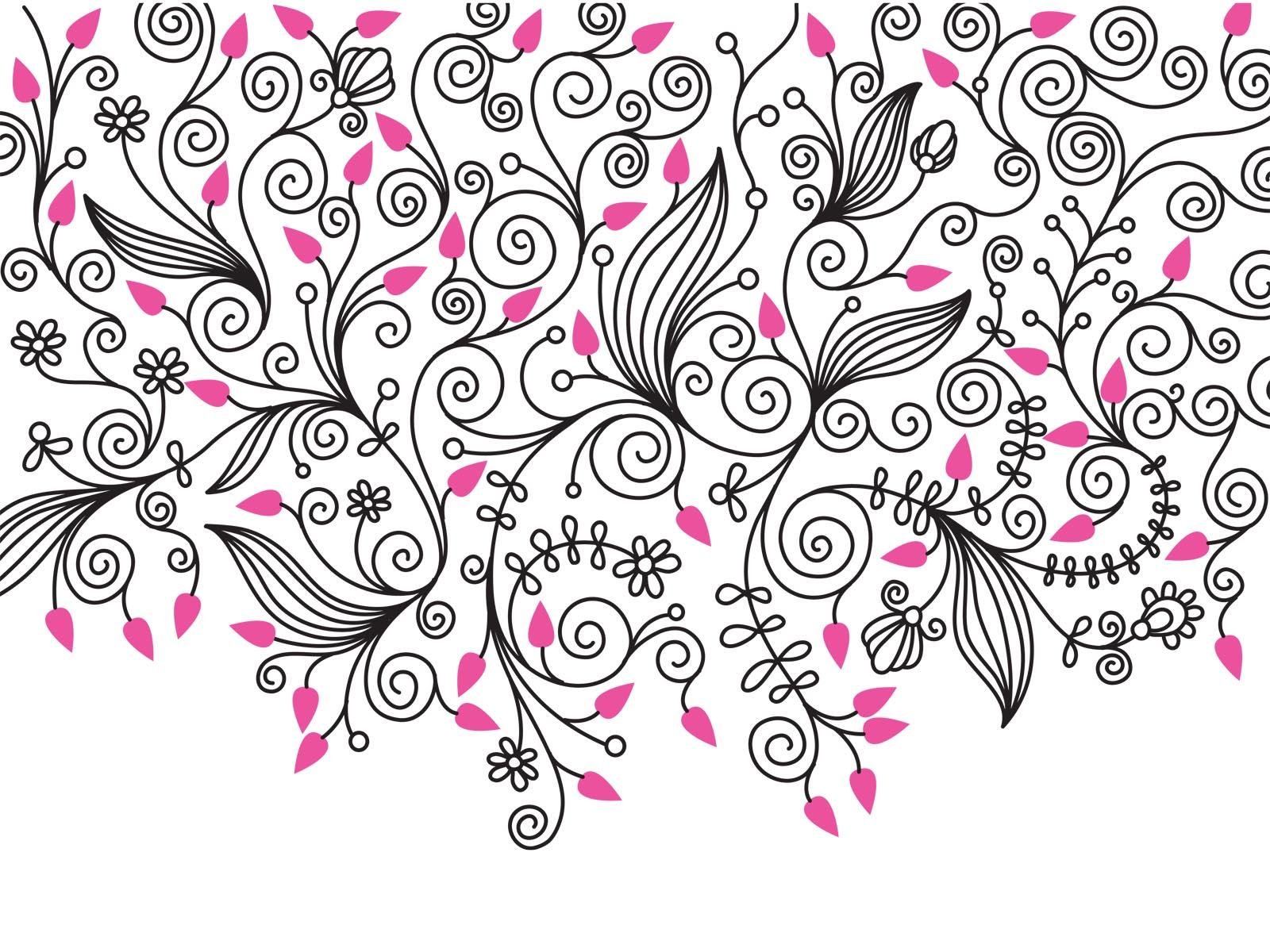 swirly roses background bouquet - photo #47