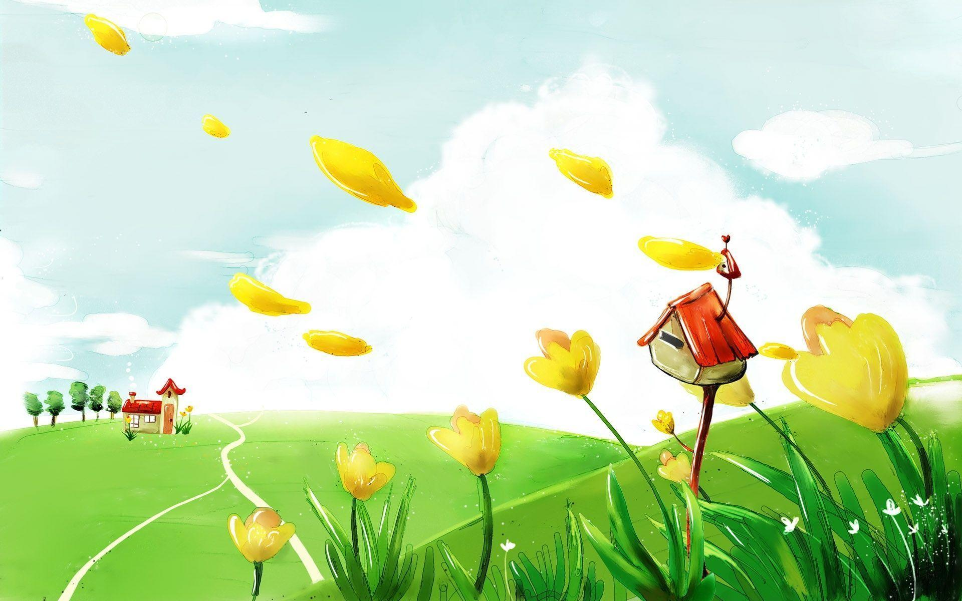 Children backgrounds image wallpaper cave for Wallpaper home cartoon