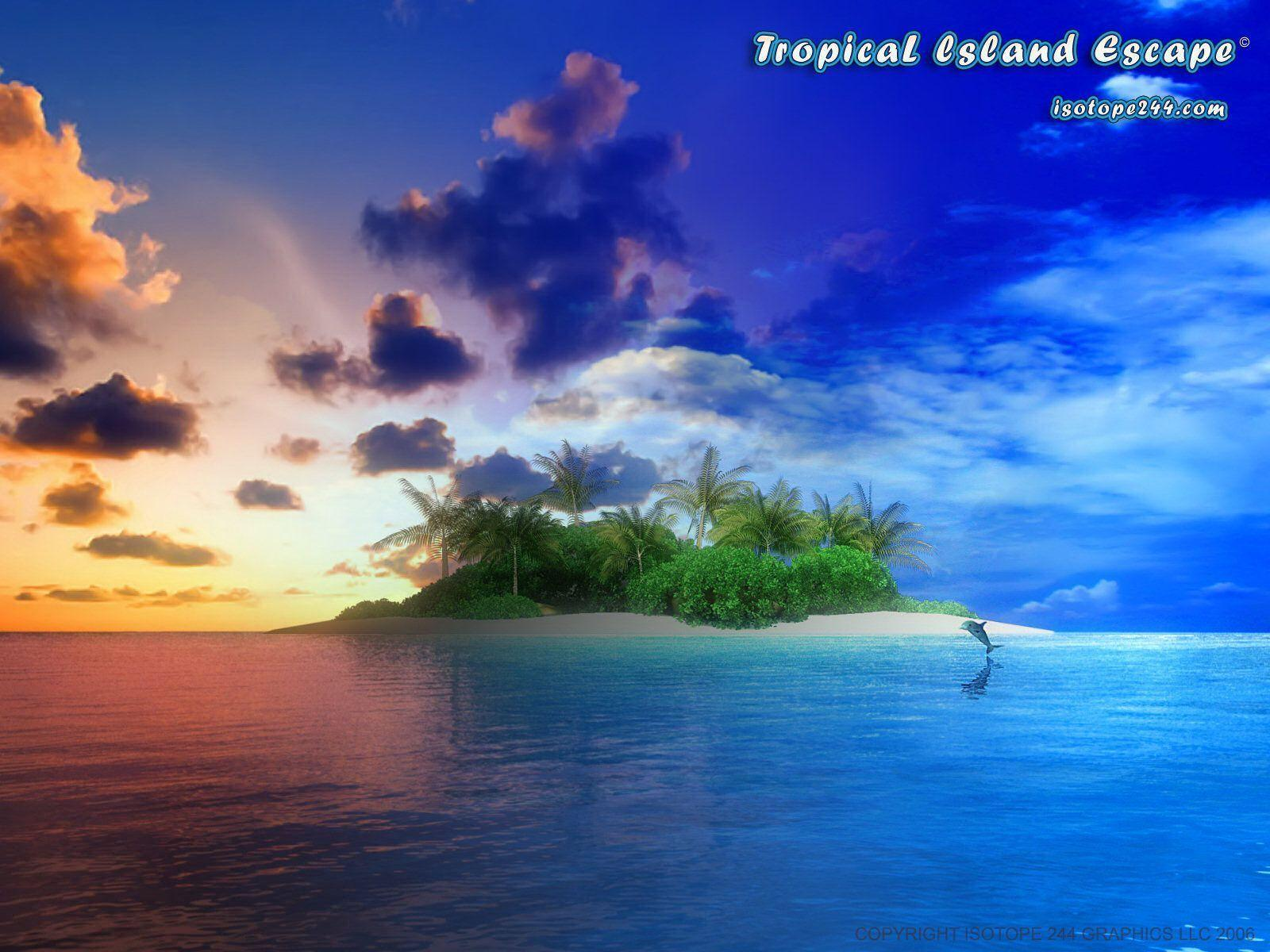 tropical island backgrounds - photo #27