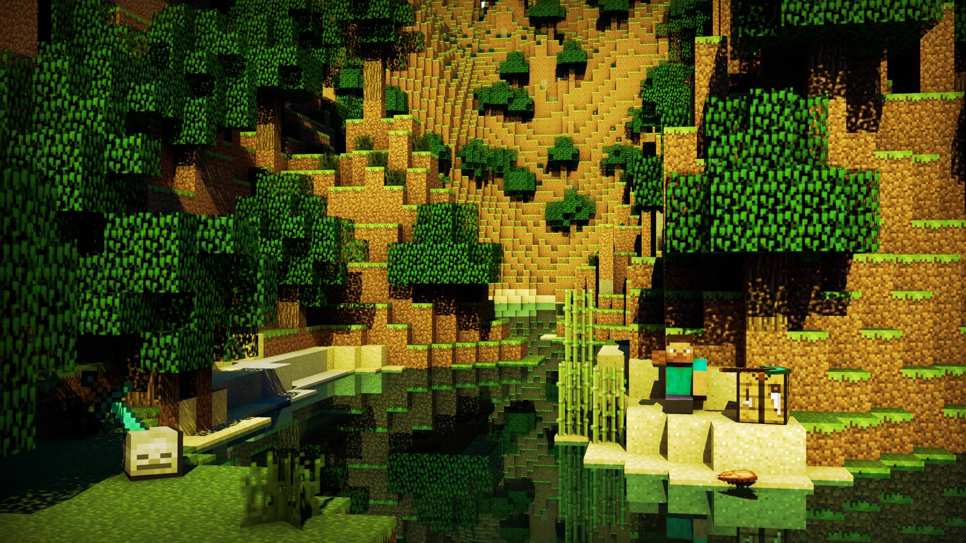 Pix For > Minecraft Backgrounds Hd