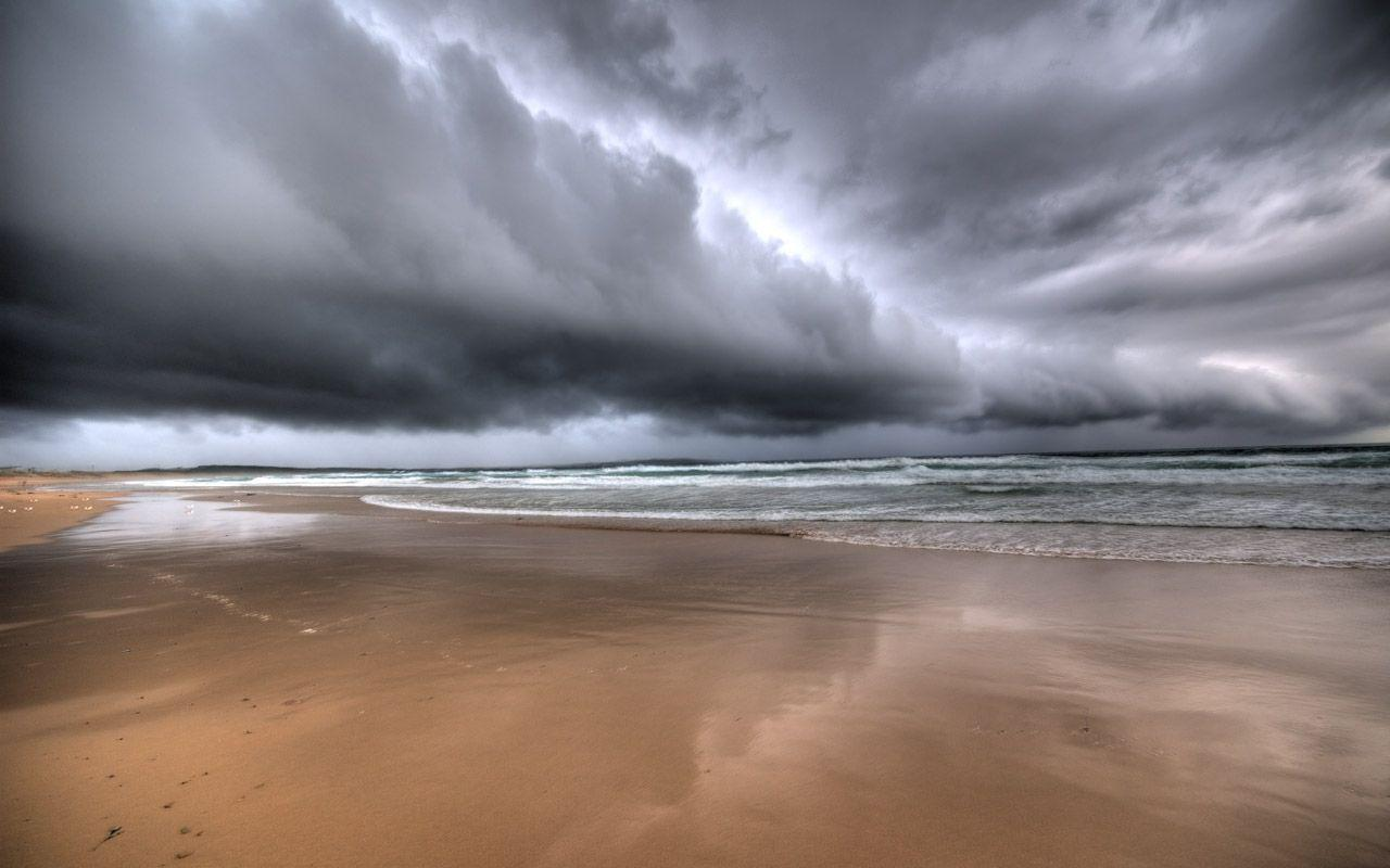 Stormy Beach Wallpaper: Stormy Wallpapers